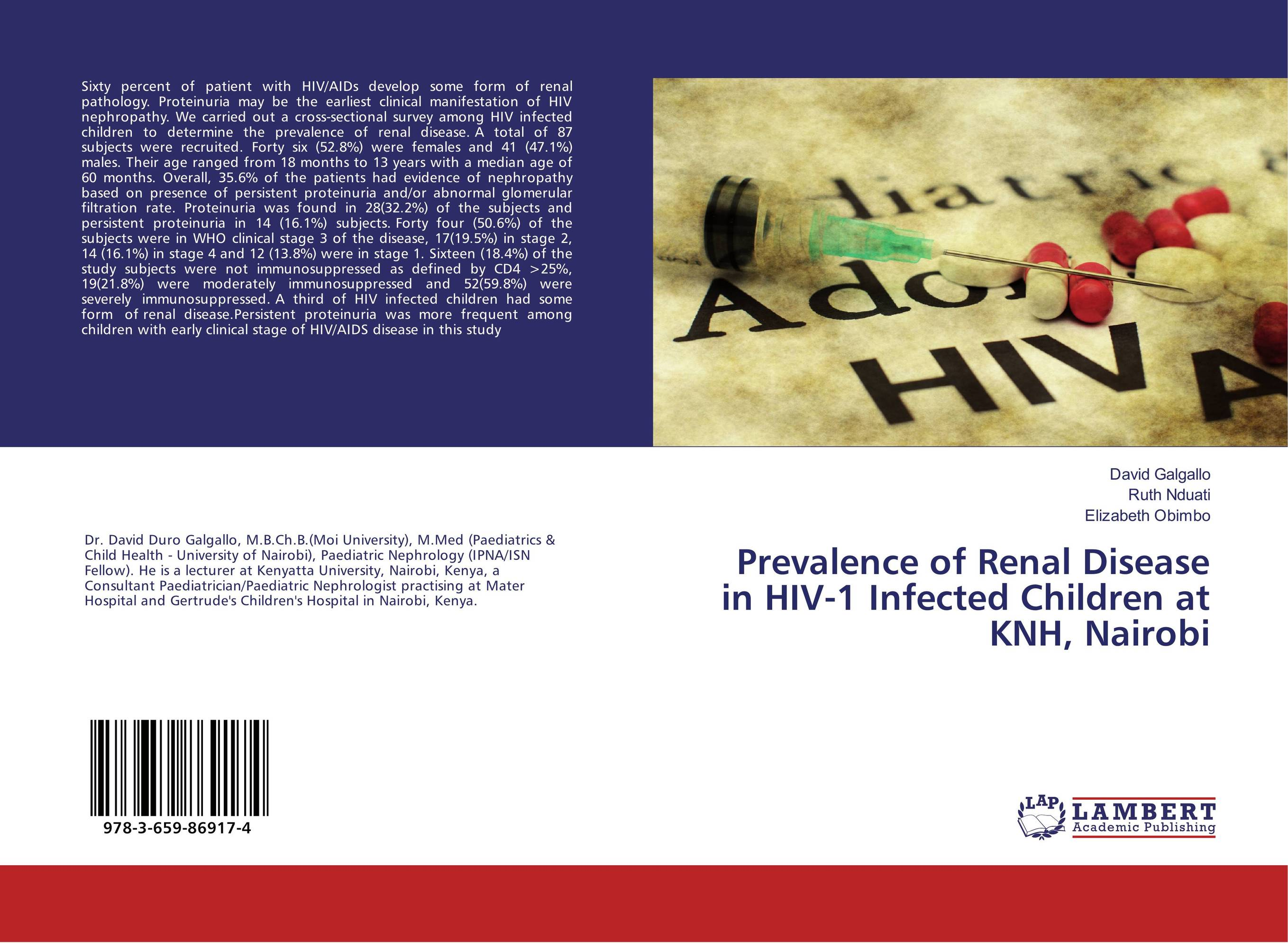 Prevalence of Renal Disease in HIV-1 Infected Children at KNH, Nairobi victoria wapf the disease of chopin a comprehensive study of a lifelong suffering