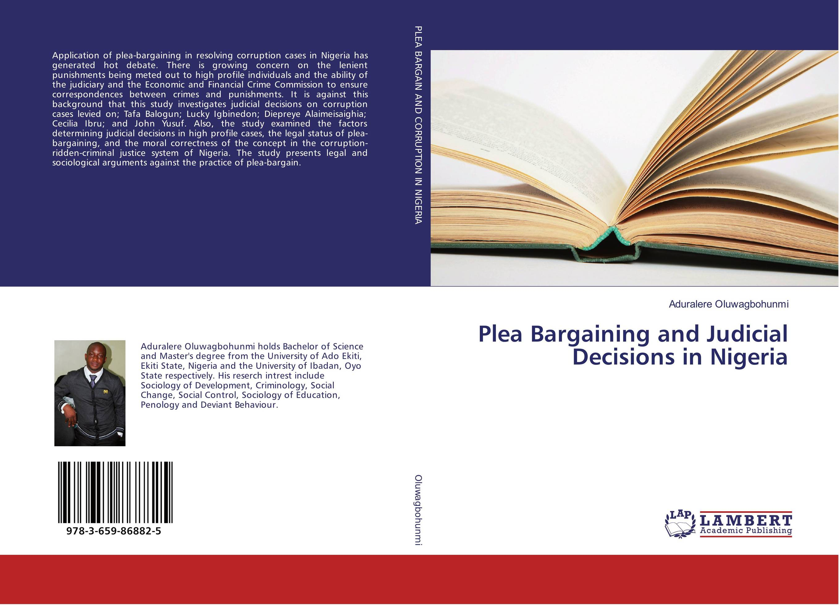 Plea Bargaining and Judicial Decisions in Nigeria postmortem epidemiological profile of burn cases