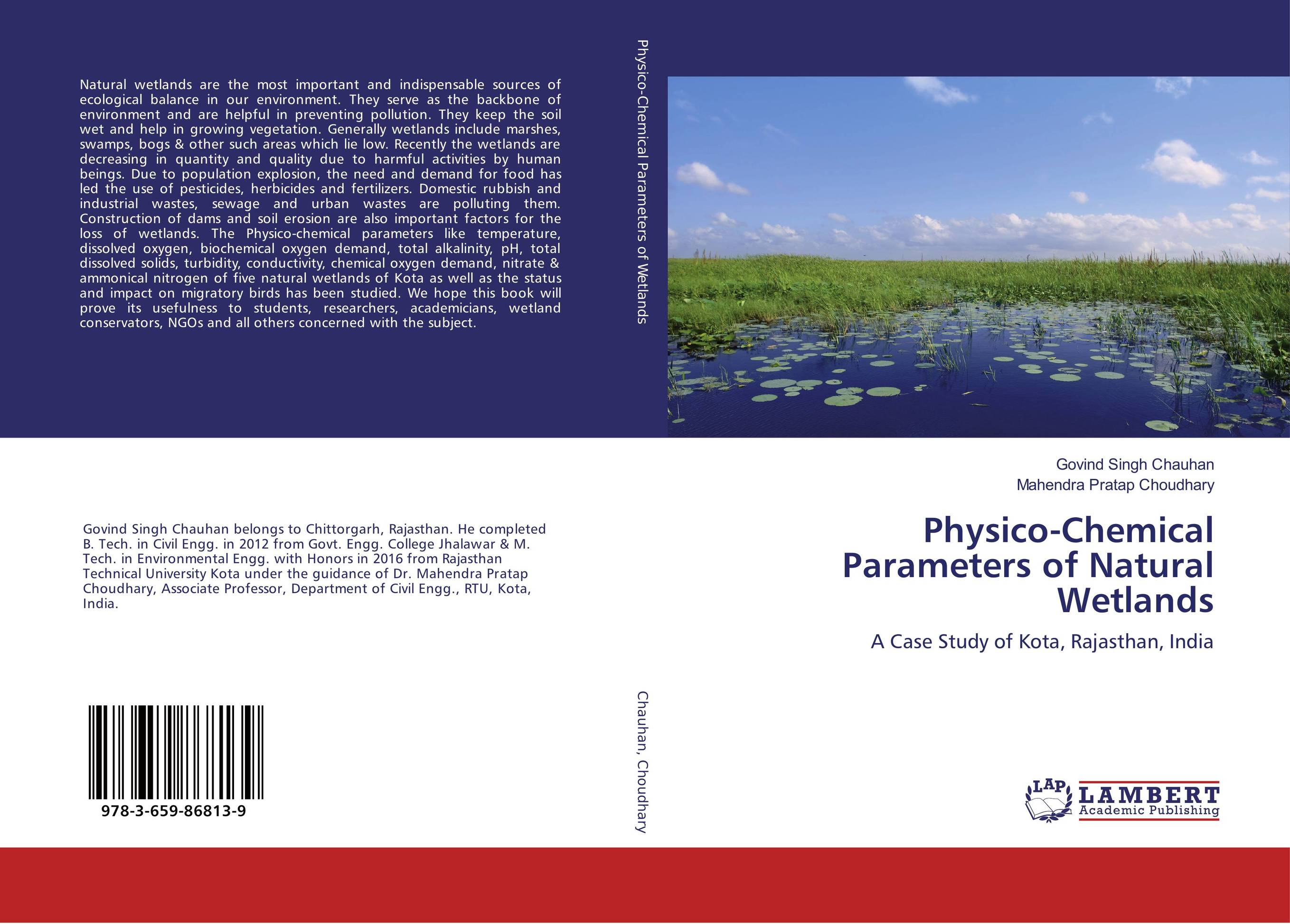 Physico-Chemical Parameters of Natural Wetlands physico chemical investigation on 1 4 dioxane and its binary systems
