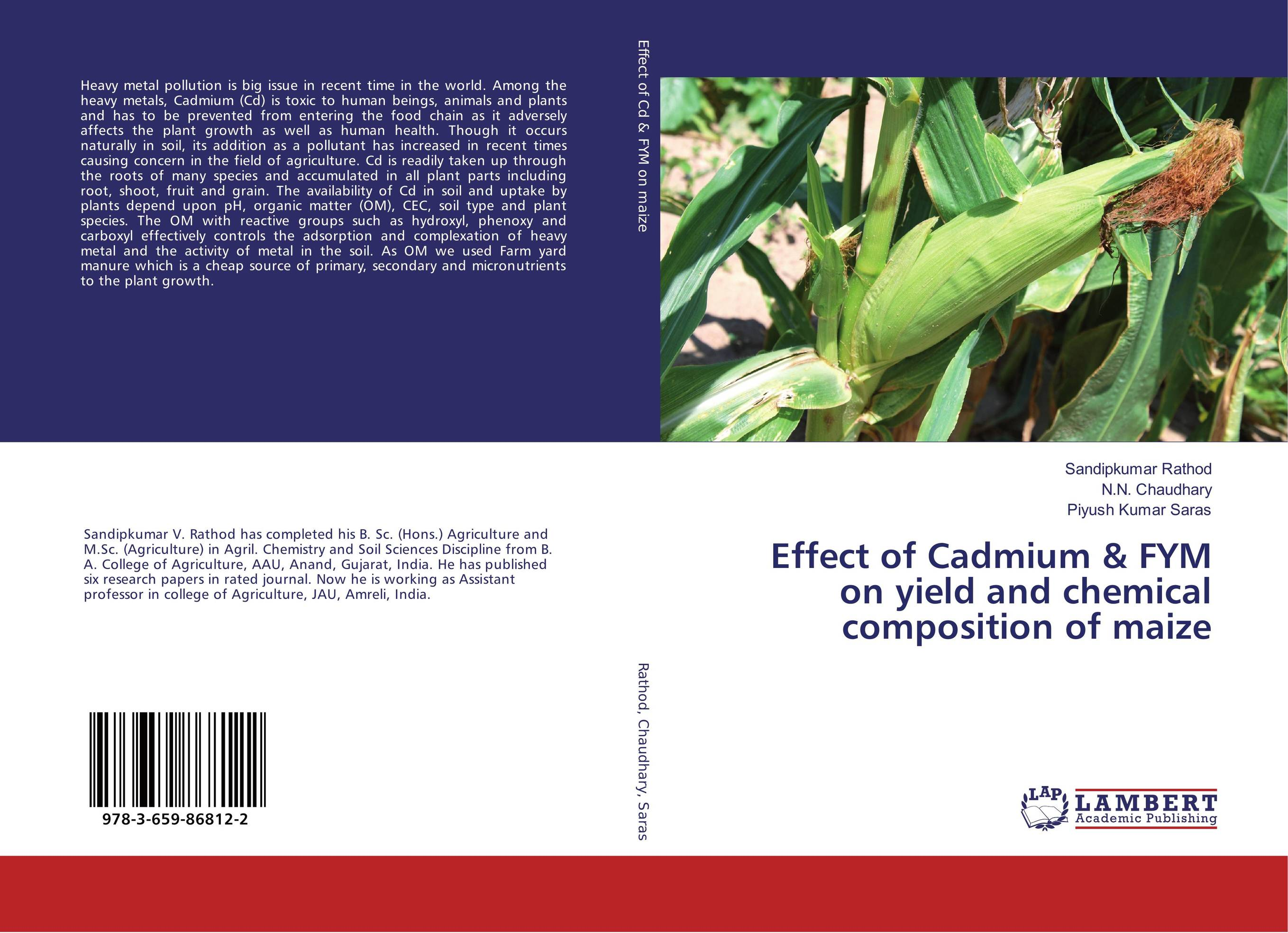 Effect of Cadmium & FYM on yield and chemical composition of maize cadmium from earth crust to fish tissues