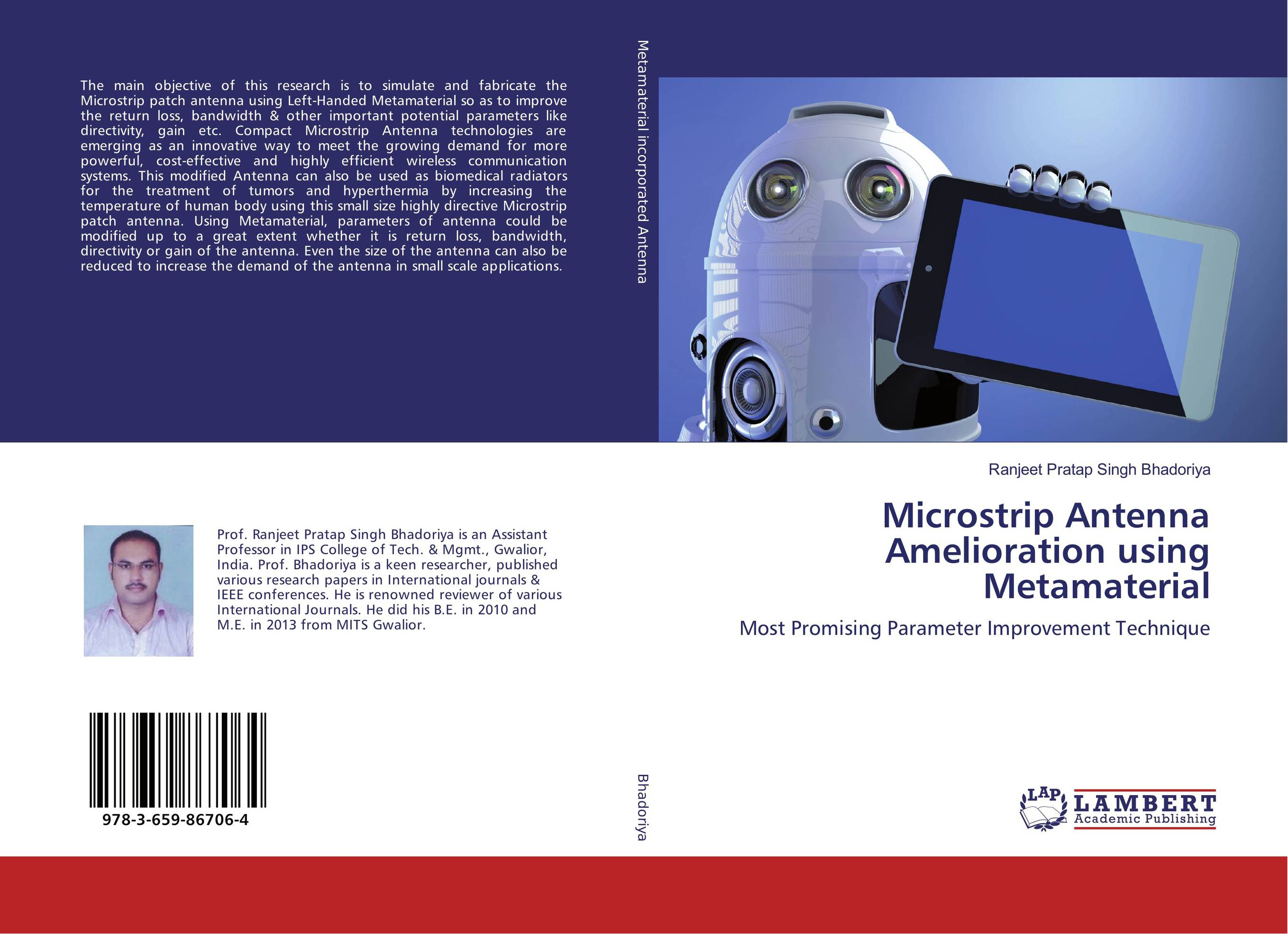 Microstrip Antenna Amelioration using Metamaterial design of microstrip antenna in wireless communication