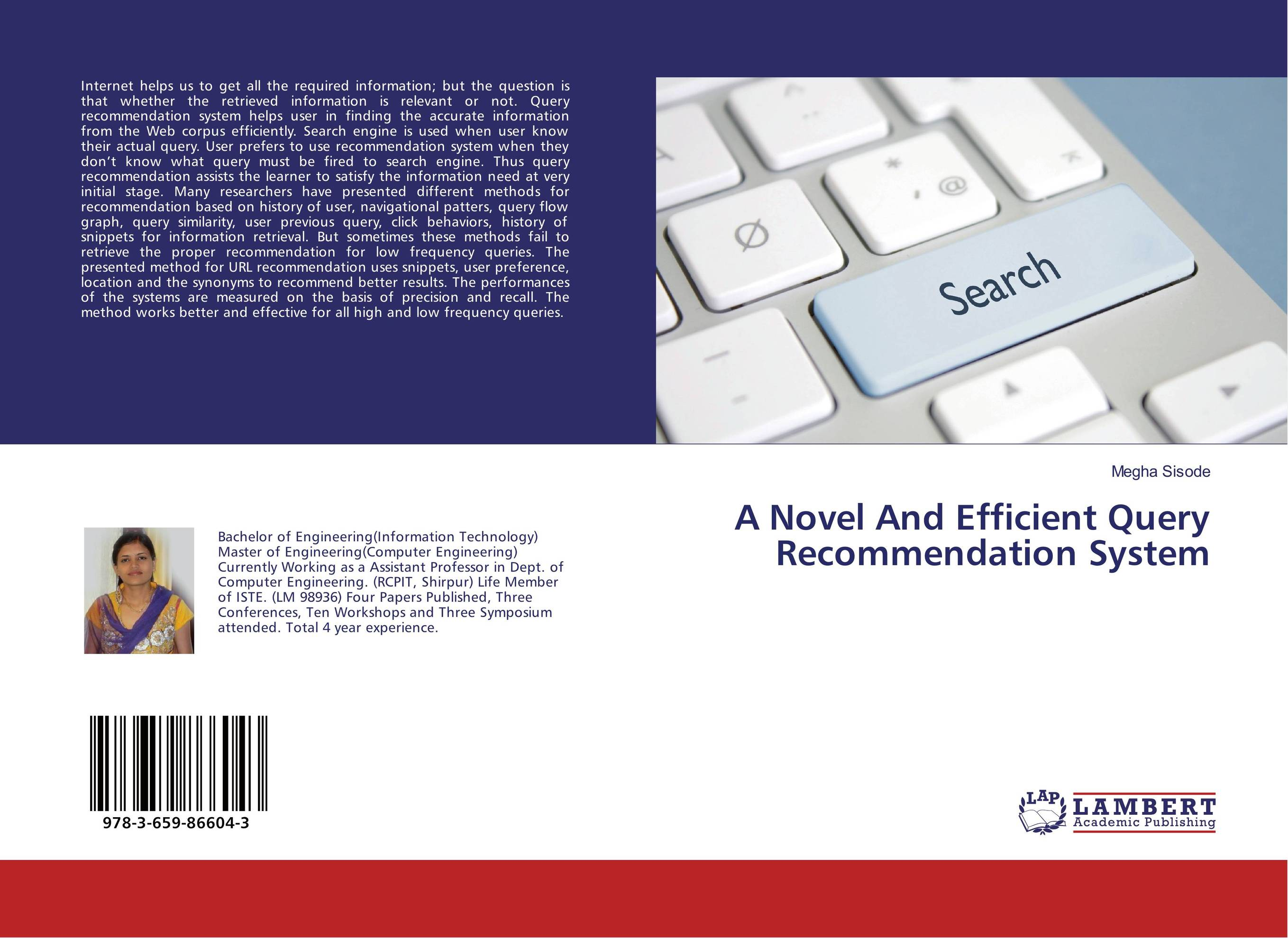 A Novel And Efficient Query Recommendation System goal directed complete web recommendation