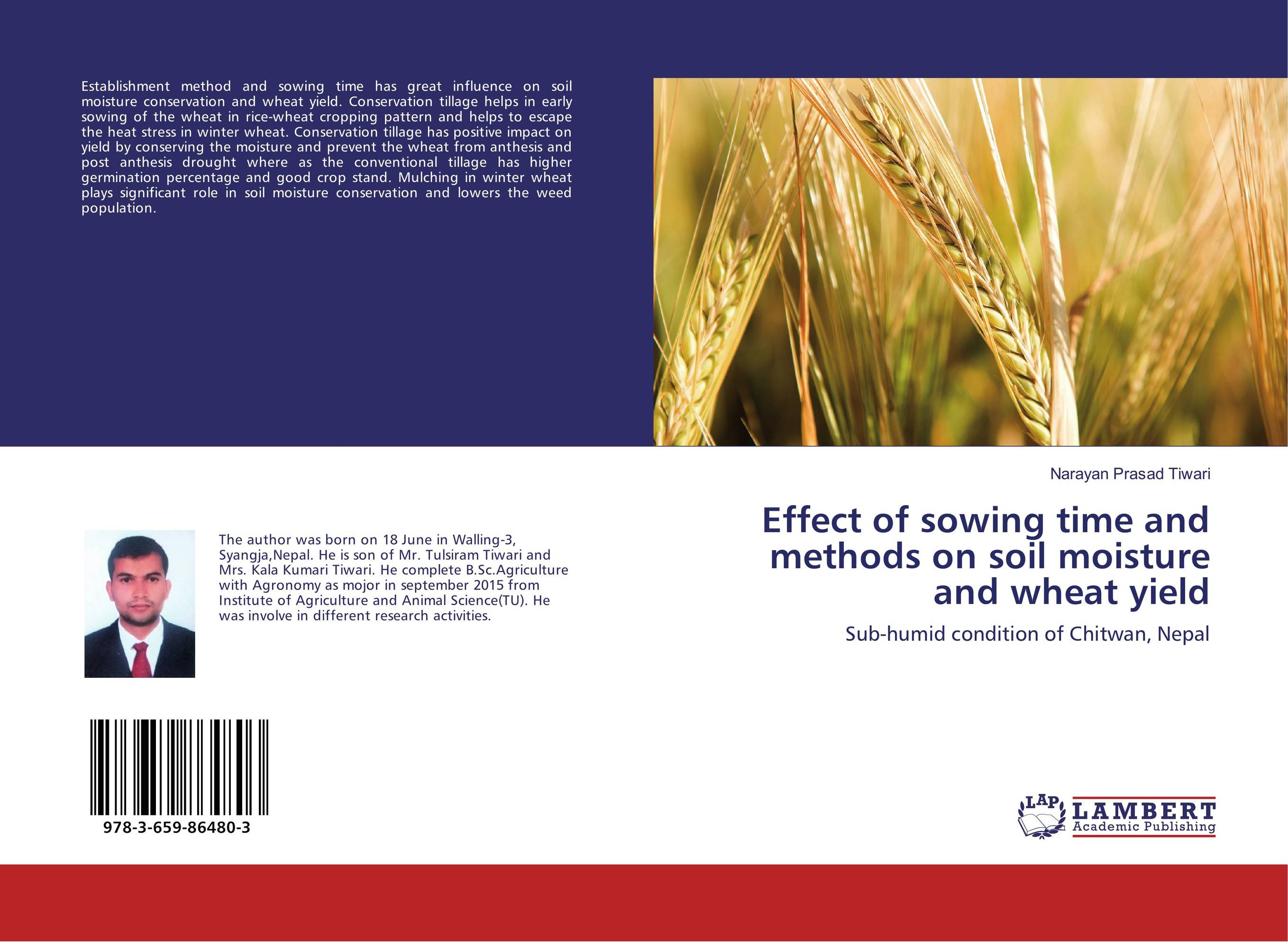 Effect of sowing time and methods on soil moisture and wheat yield