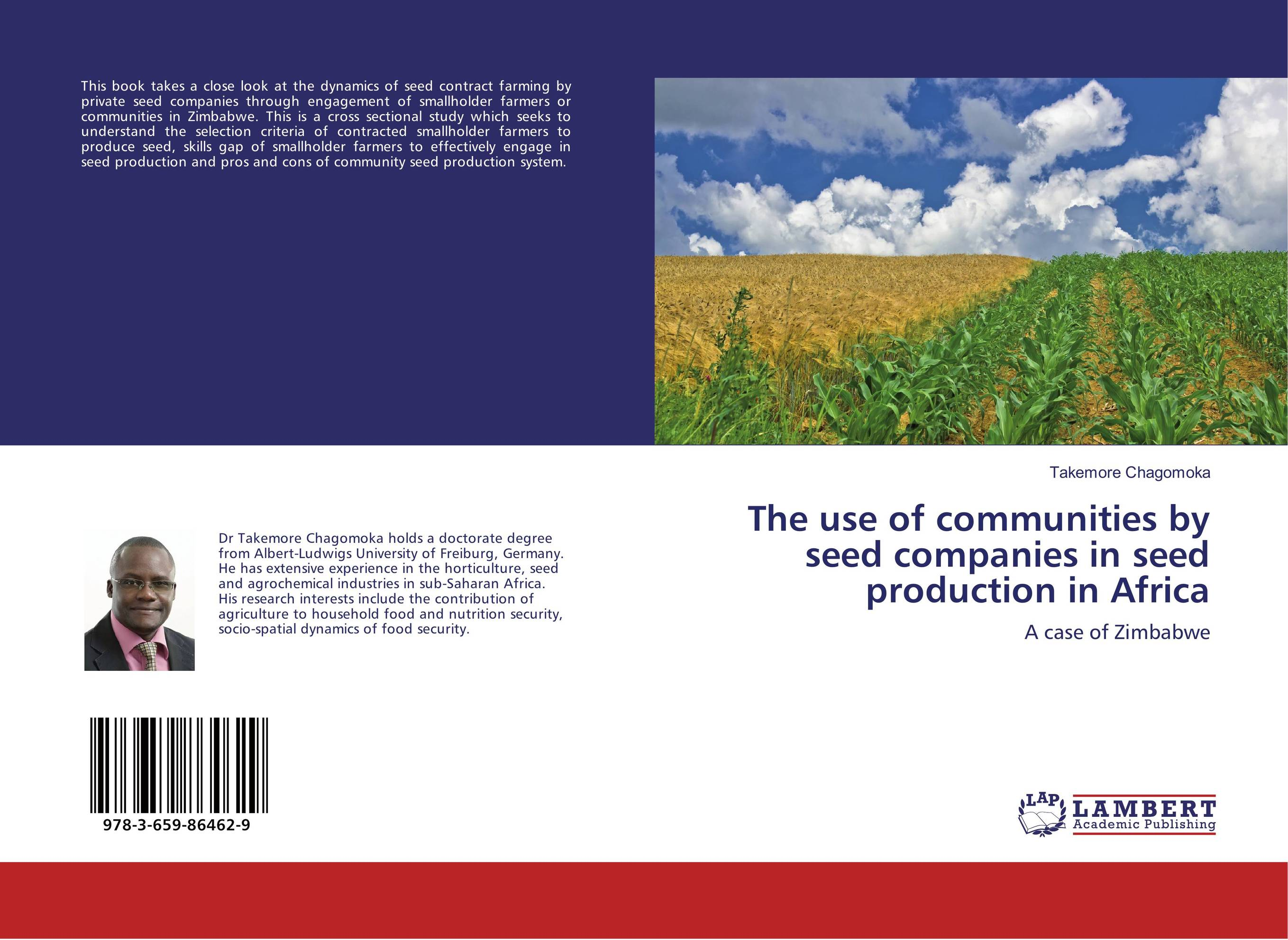 The use of communities by seed companies in seed production in Africa lipid production by oleaginous yeasts