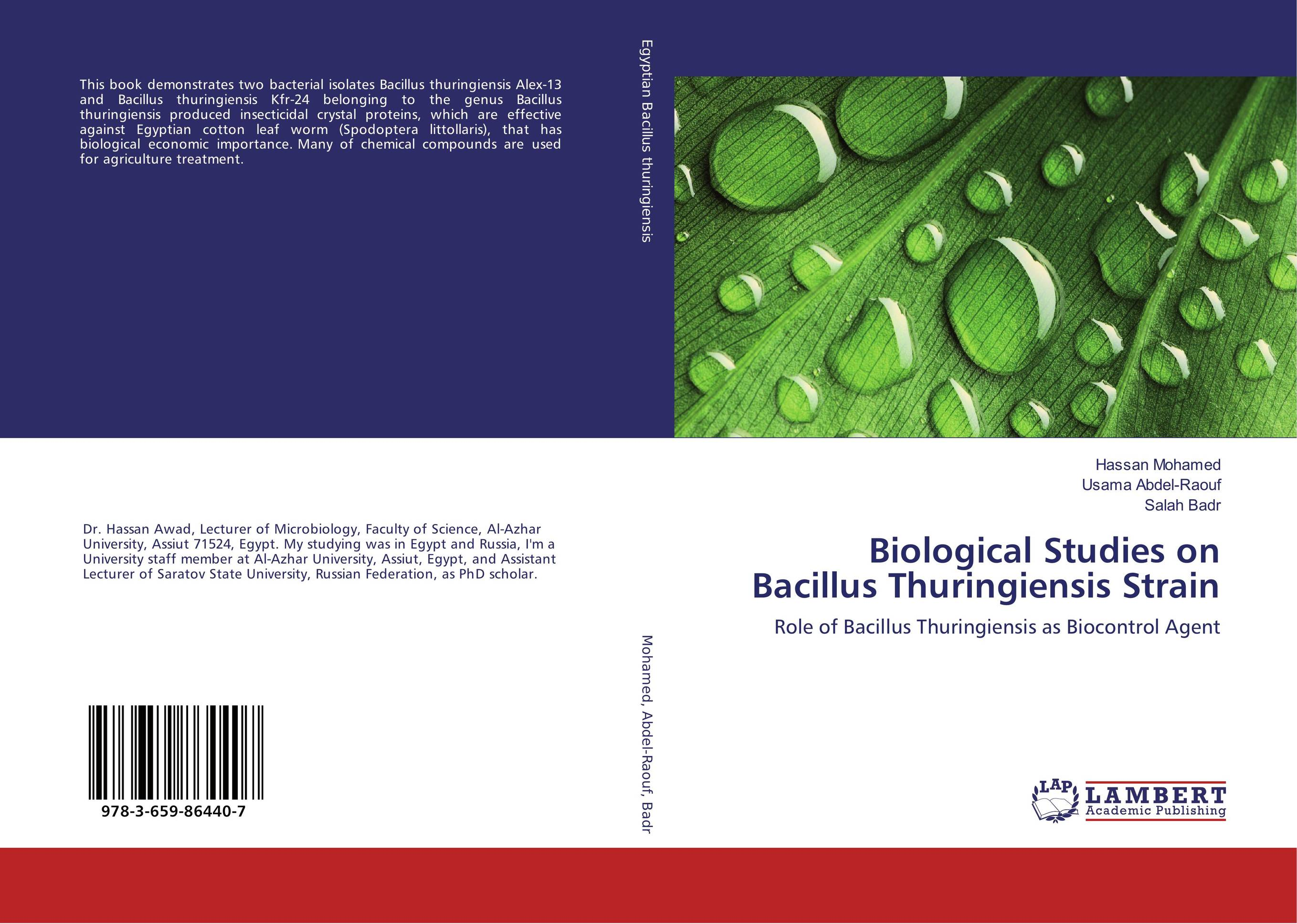 Biological Studies on Bacillus Thuringiensis Strain hyper production of cellulase by mutagenesis of bacillus strain