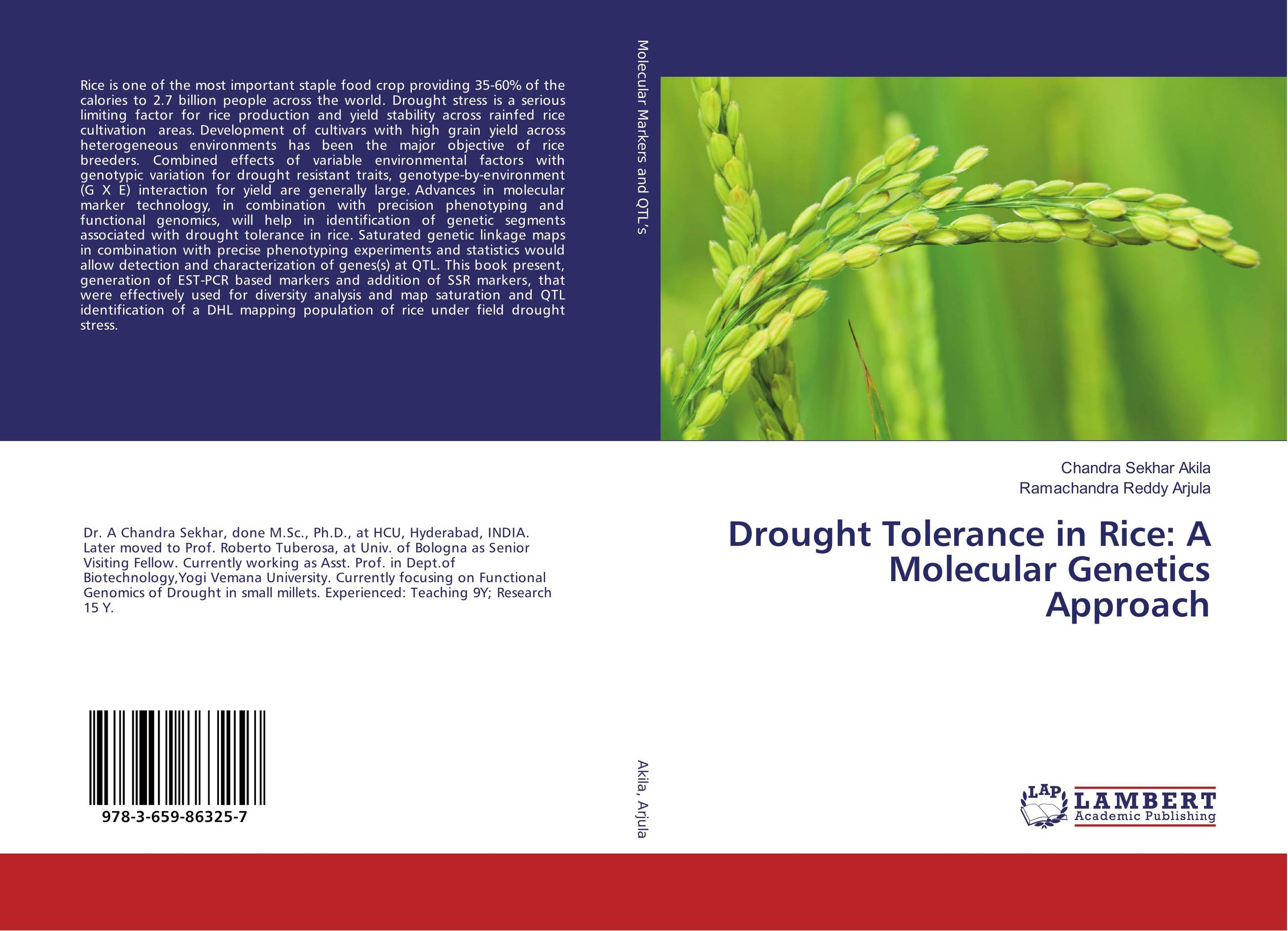 Drought Tolerance in Rice: A Molecular Genetics Approach eman ibrahim el sayed abdel wahab molecular genetic characterization studies of some soybean cultivars