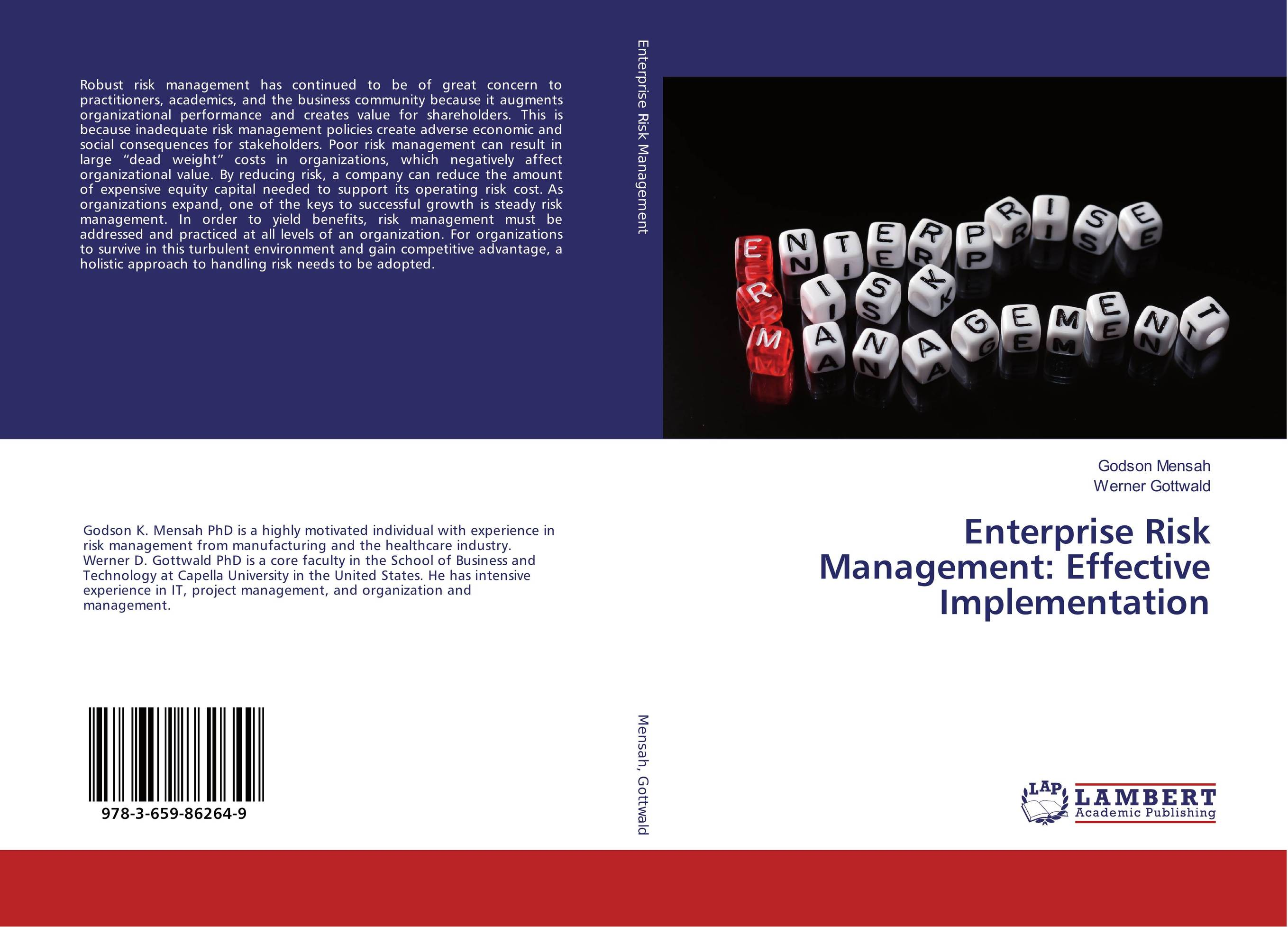 Enterprise Risk Management: Effective Implementation sim segal corporate value of enterprise risk management the next step in business management