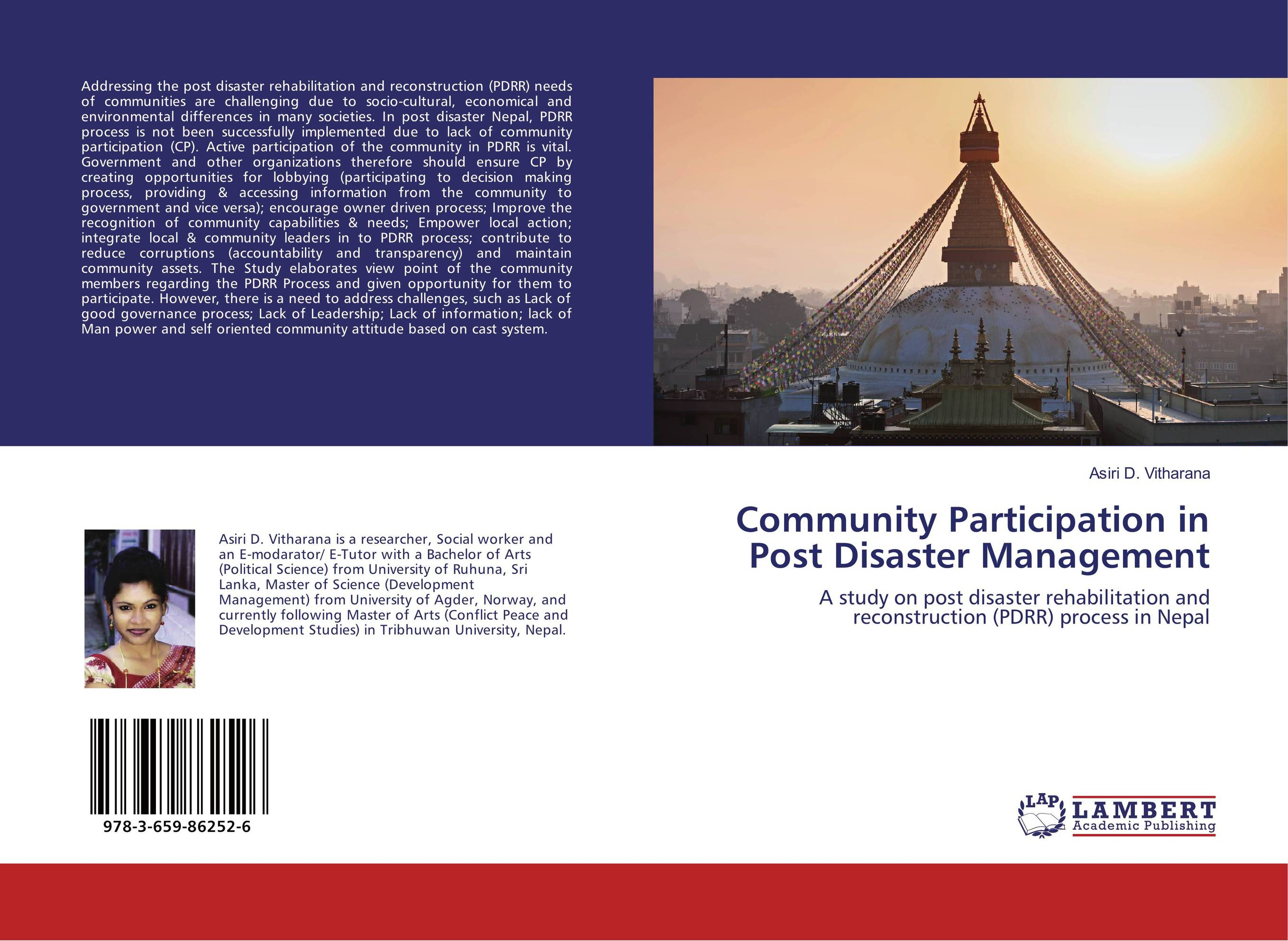 Community Participation in Post Disaster Management driven to distraction