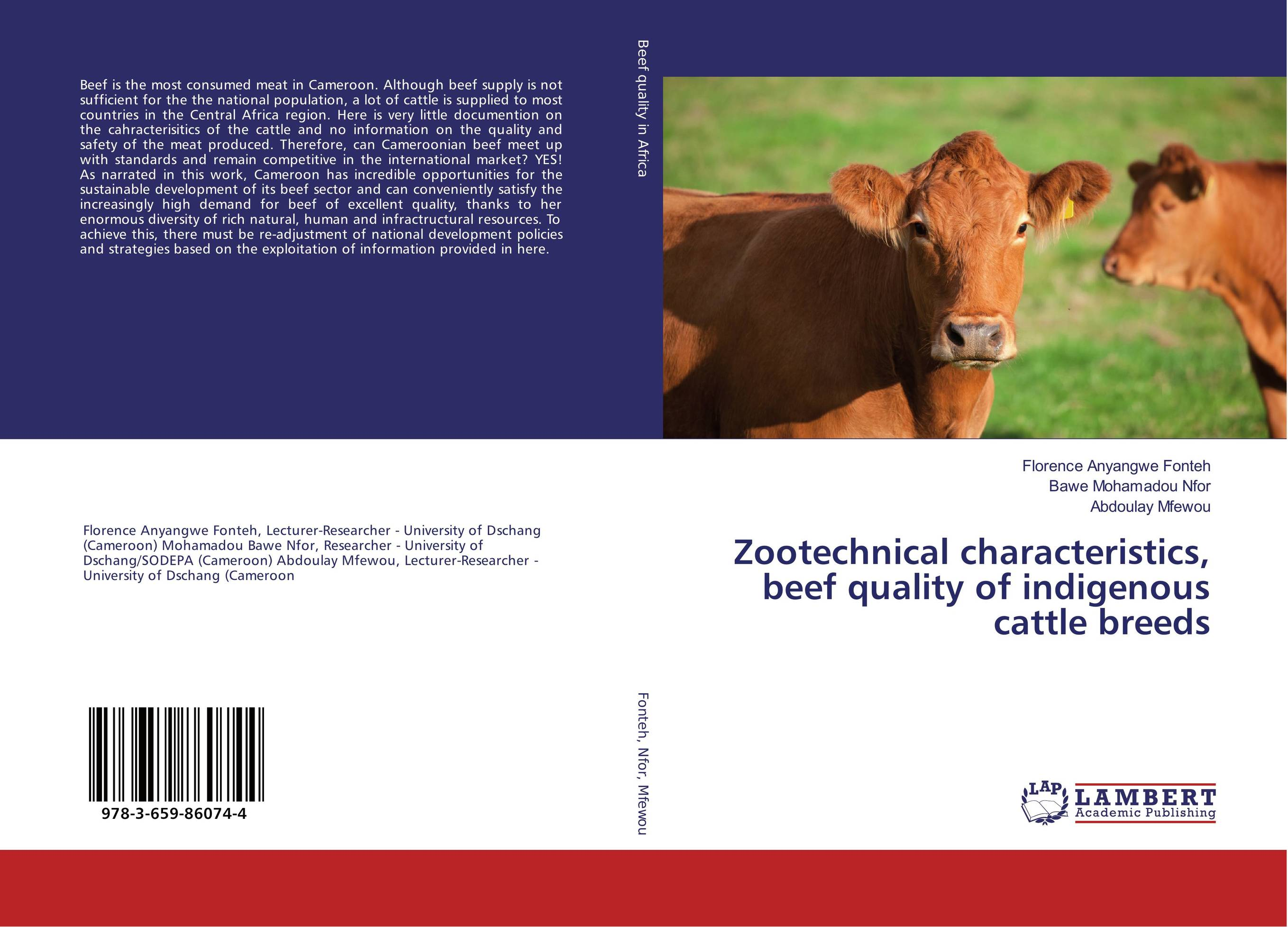 Zootechnical characteristics, beef quality of indigenous cattle breeds population dynamics of ticks on cattle in asia and africa