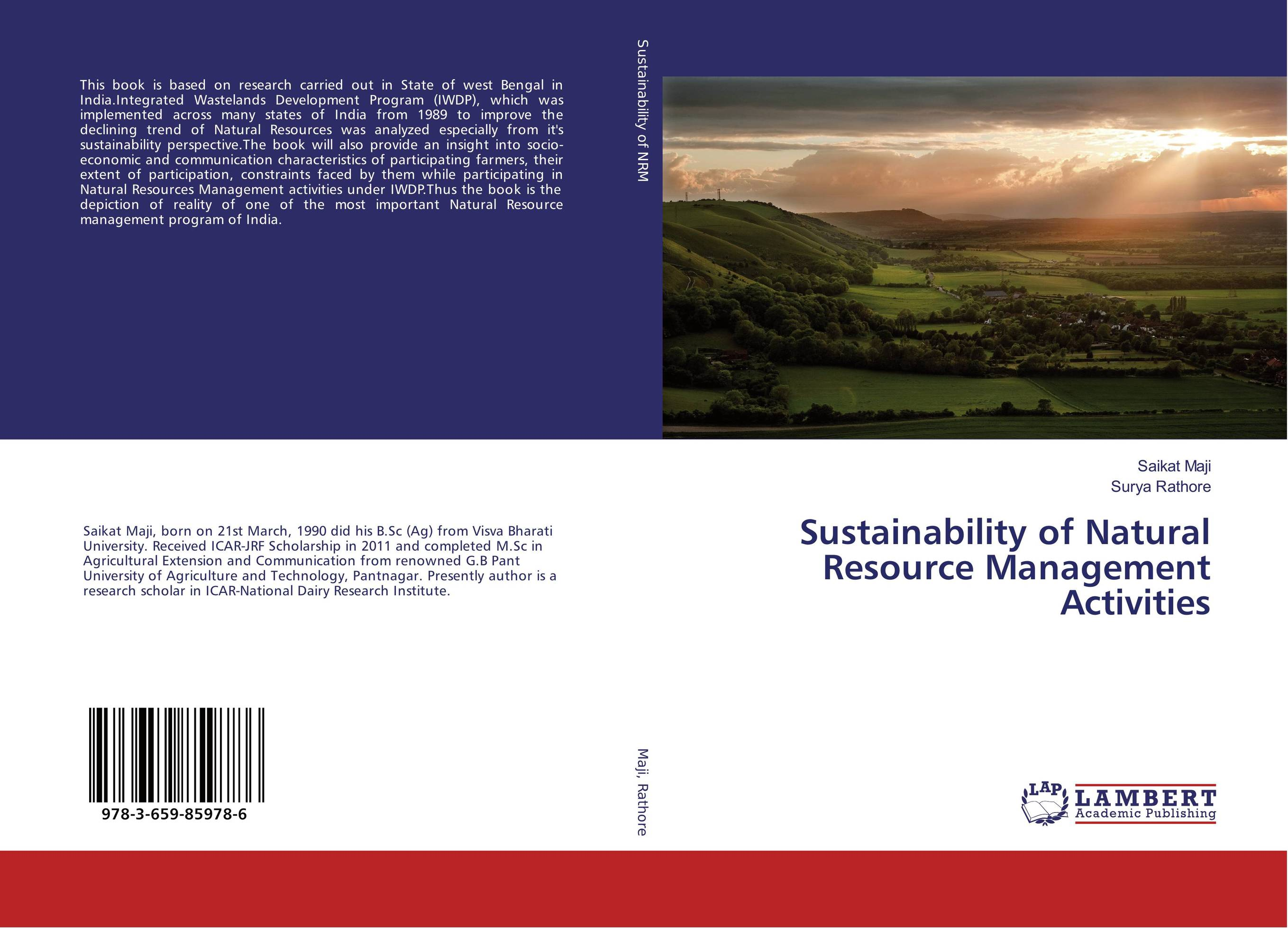 Sustainability of Natural Resource Management Activities