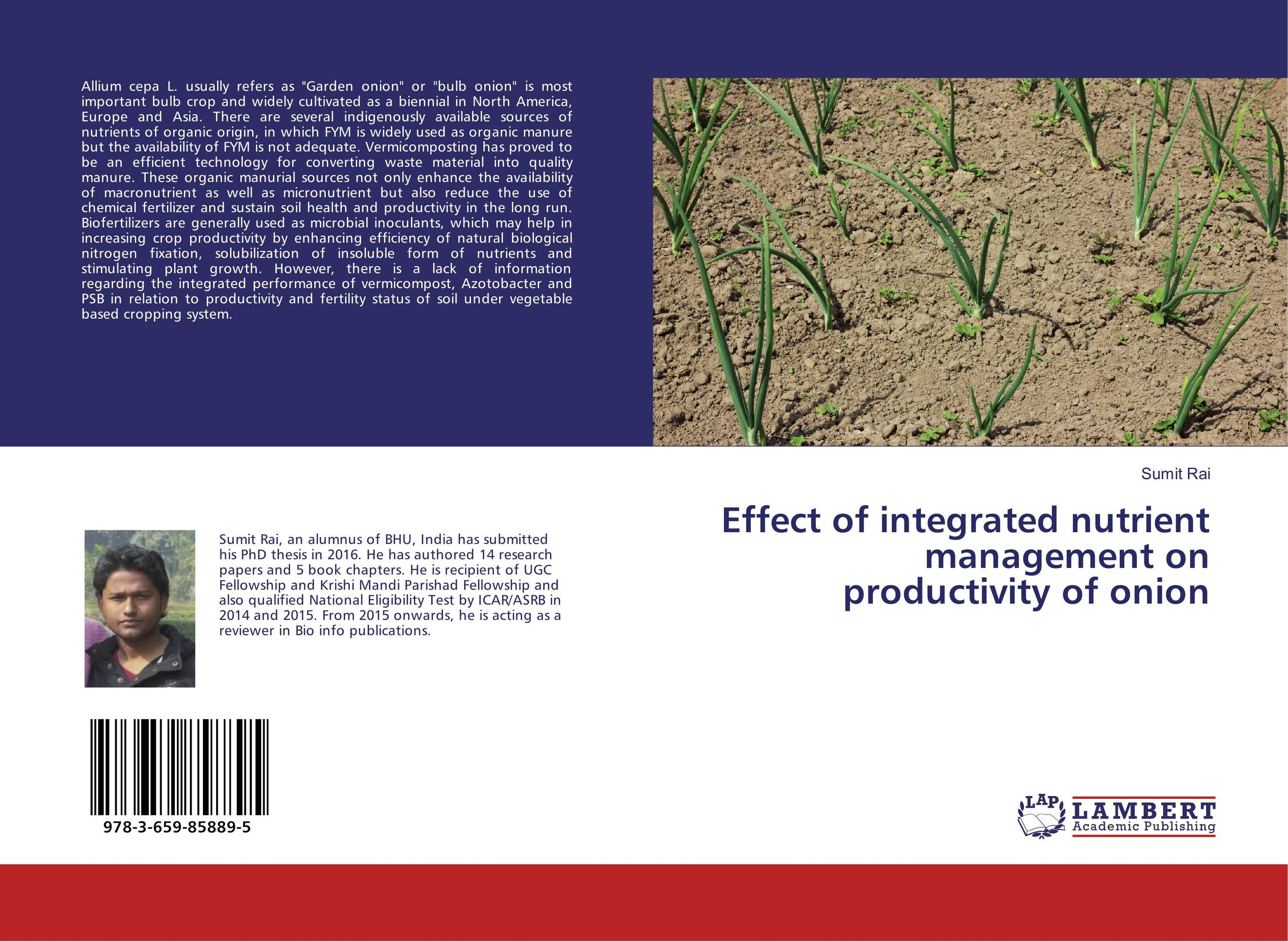 цена на Effect of integrated nutrient management on productivity of onion