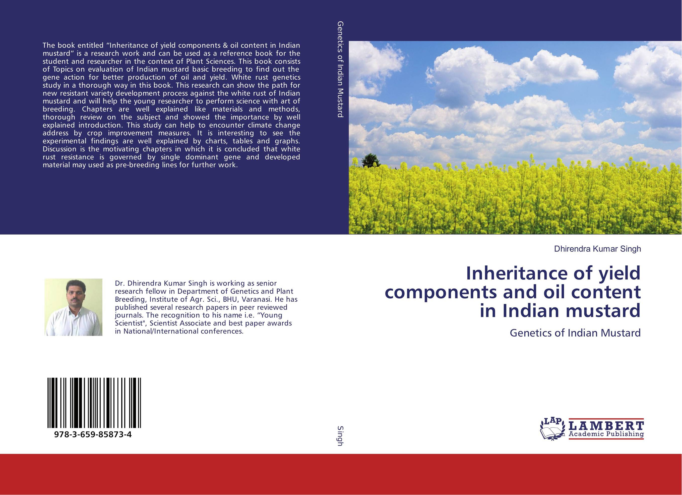 Inheritance of yield components and oil content in Indian mustard nick sharratt caveman dave