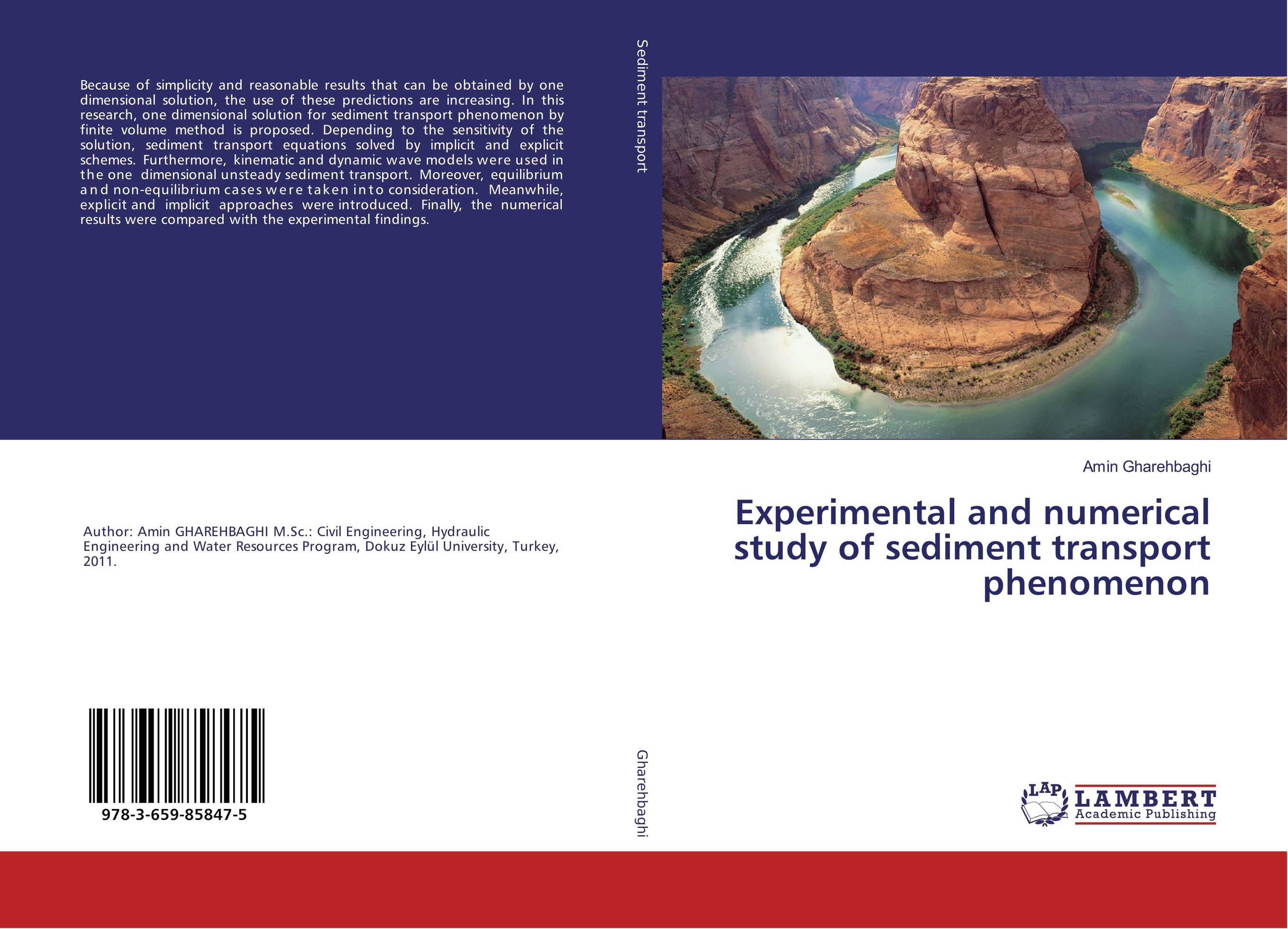 Experimental and numerical study of sediment transport phenomenon analytical and numerical approximation solution of bio heat equation