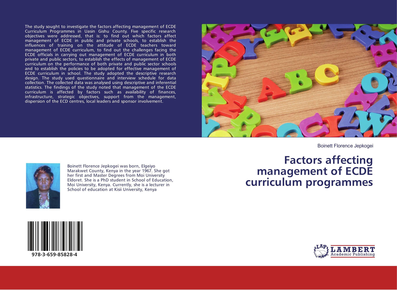 Factors affecting management of ECDE curriculum programmes management of special schools in ghana