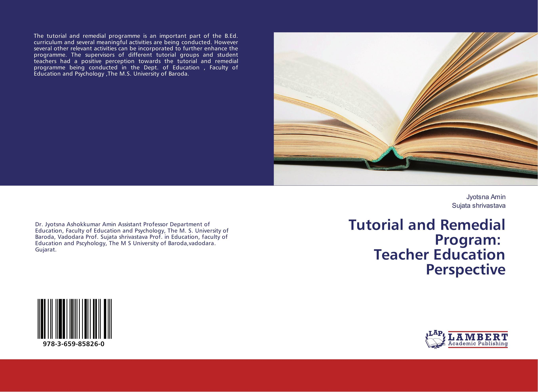 Tutorial and Remedial Program: Teacher Education Perspective spectroscopy tutorial