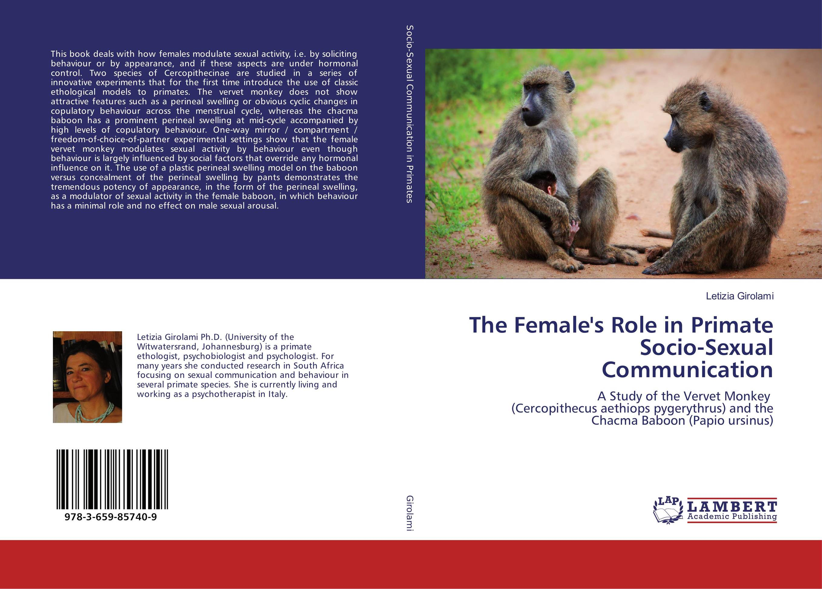 The Female's Role in Primate Socio-Sexual Communication rakesh kumar balbir singh kaith and anshul sharma psyllium based polymer and their salt resistant swelling behaviour