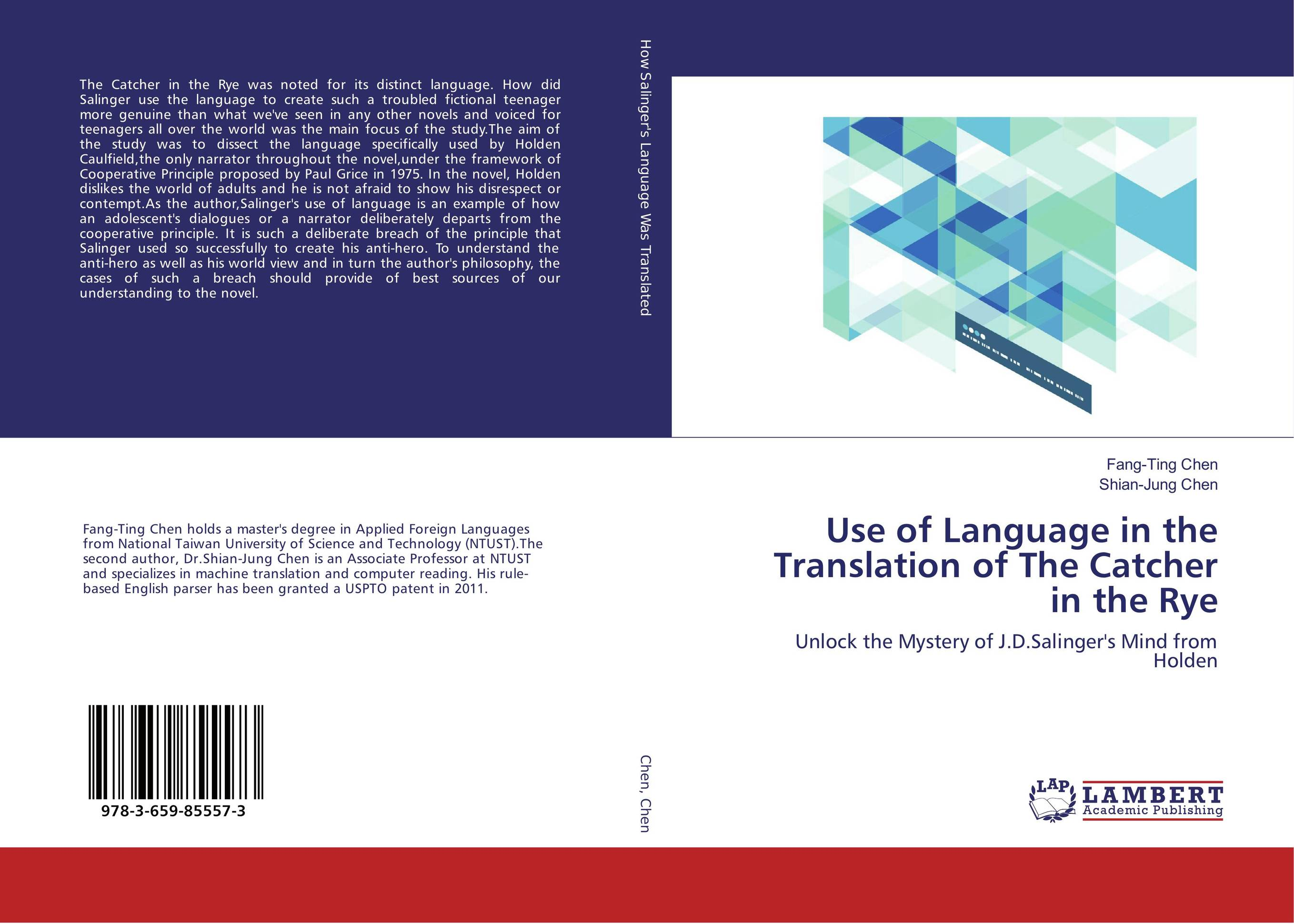 Use of Language in the Translation of The Catcher in the Rye the handbook of translation and cognition