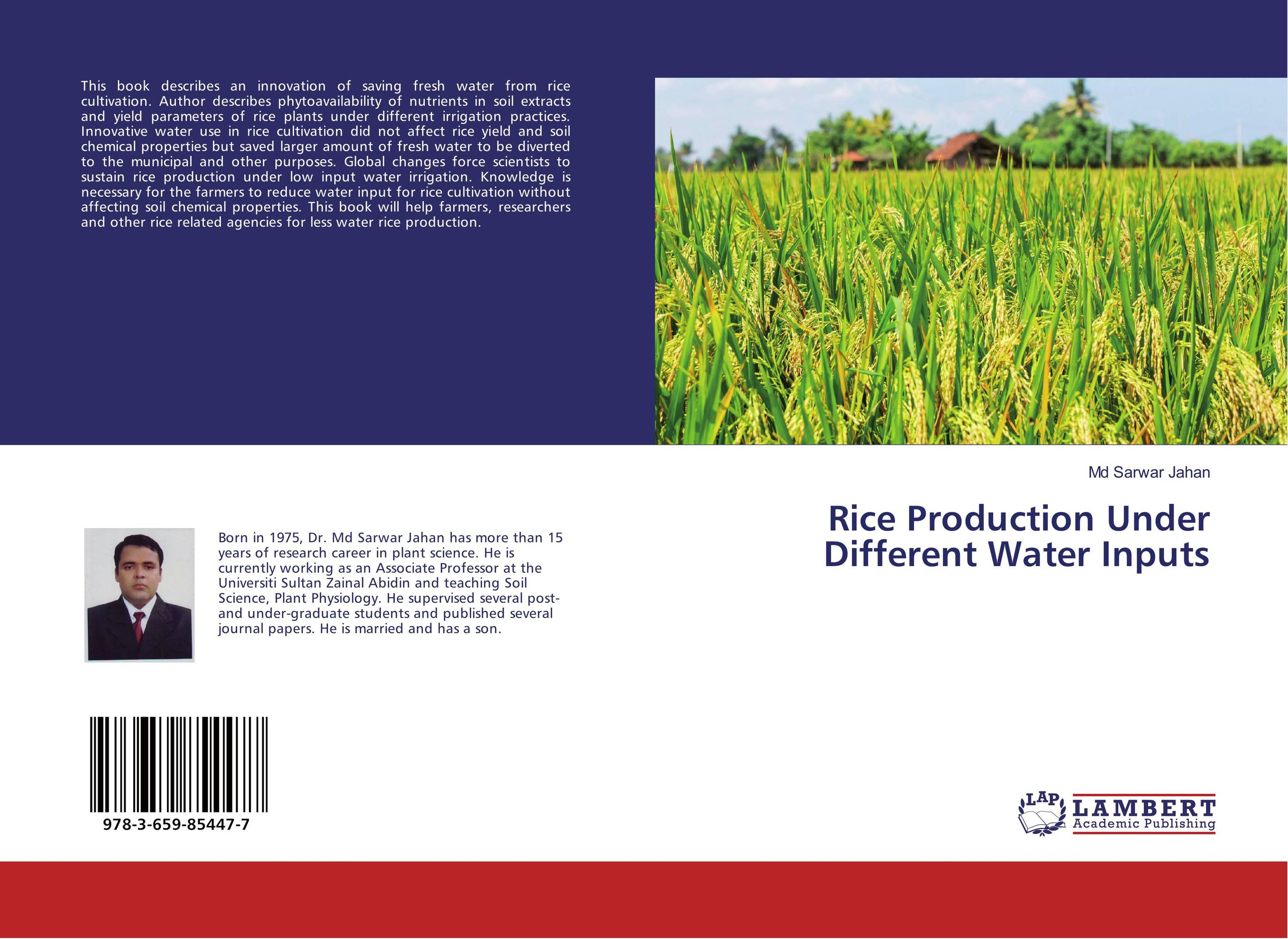 все цены на  Rice Production Under Different Water Inputs  онлайн