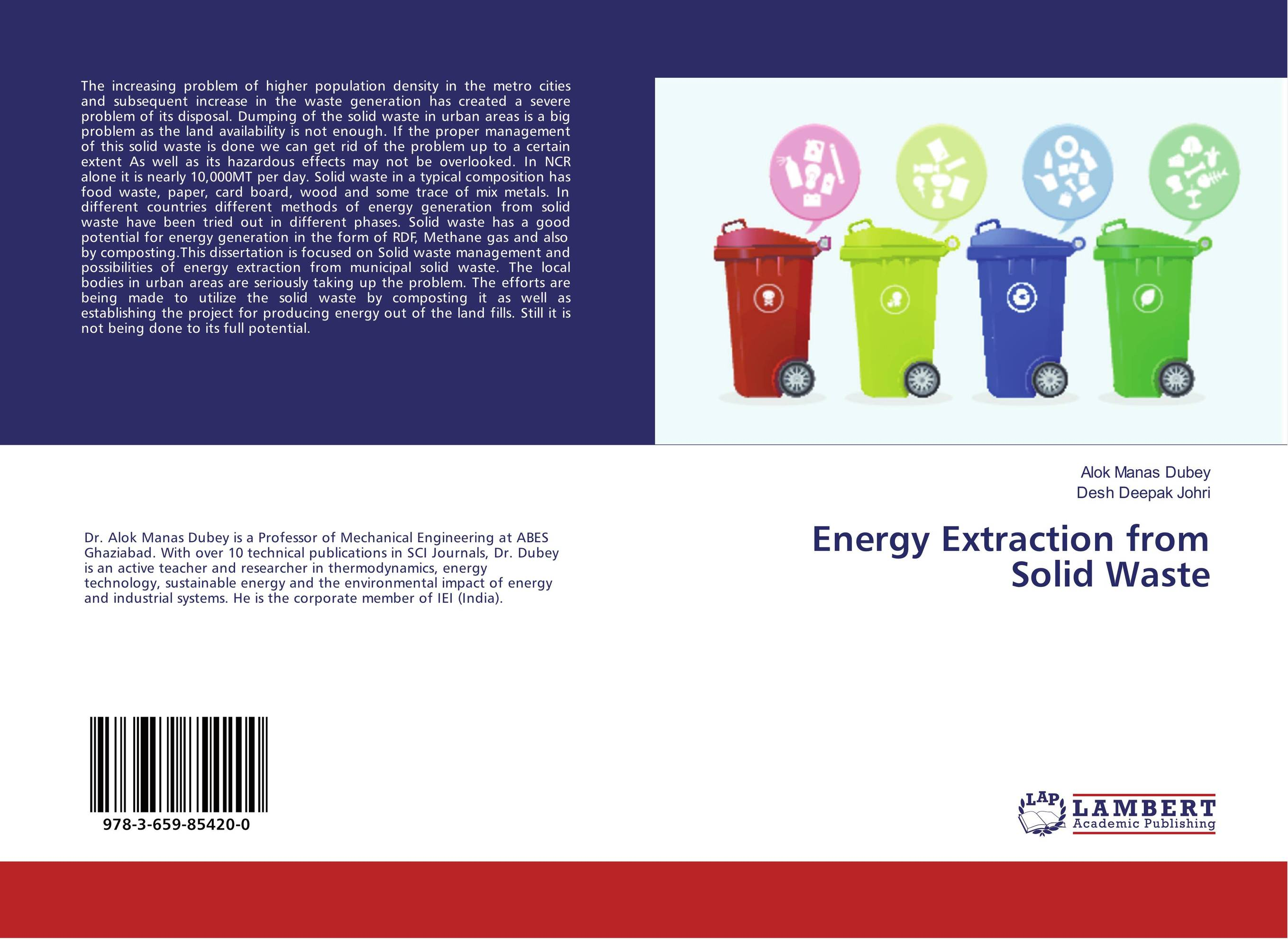 Energy Extraction from Solid Waste urban infrastructure for solid waste management