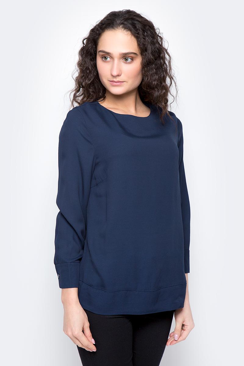 Блузка женская Selected Femme, цвет: темно-синий. 16053852. Размер 40 (46) блузка женская selected femme цвет розовый 16053871 размер 40 46