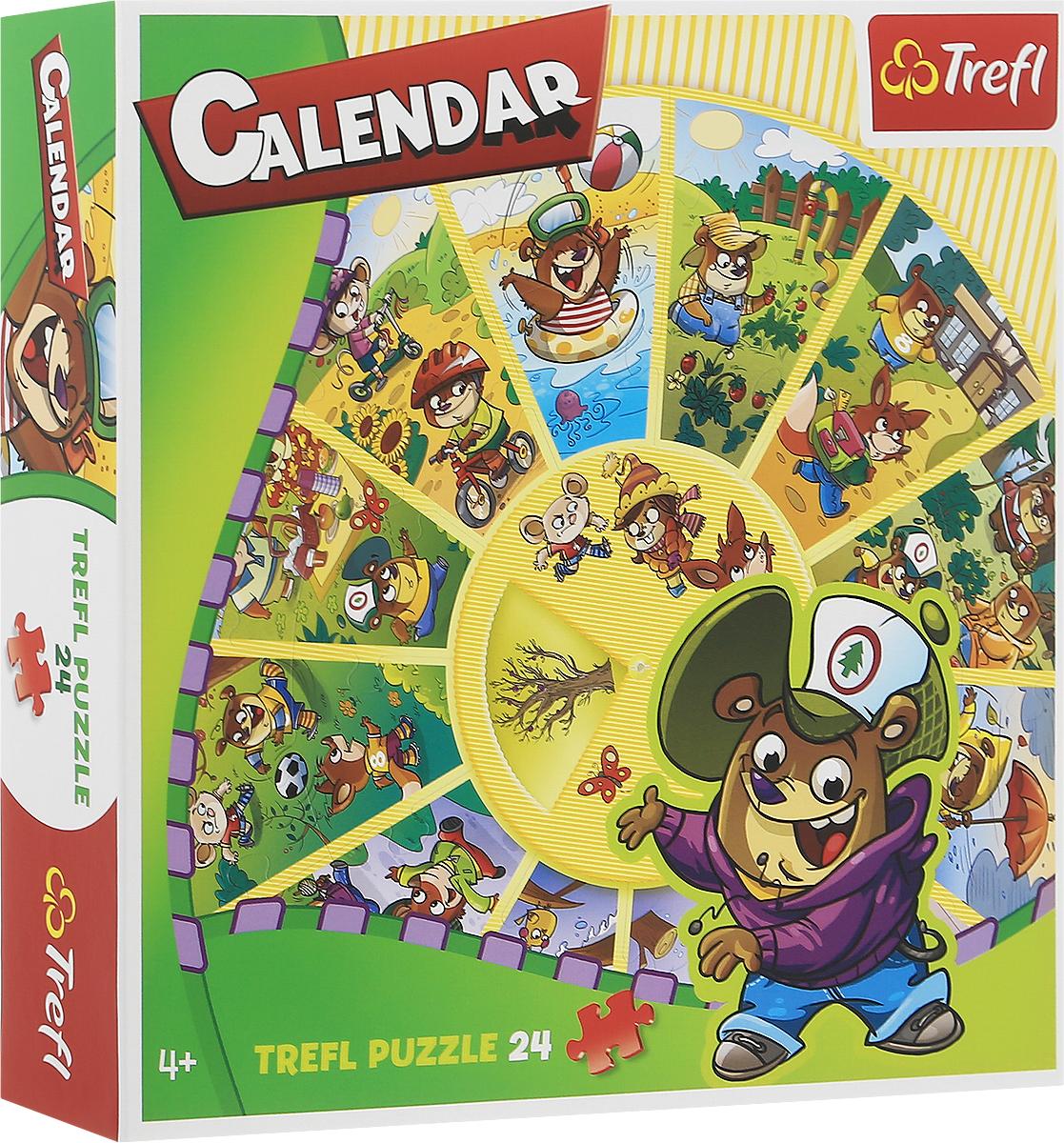 Trefl Пазл для малышей Календарь trefl пазл тоскана италия