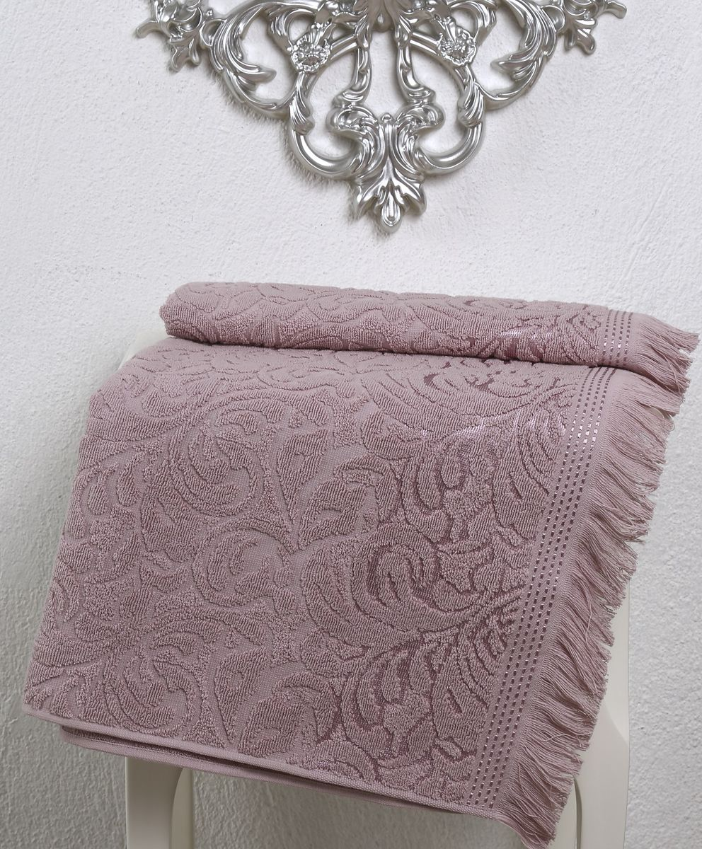 Полотенце Karna Esra, цвет: пыльная роза, 70 х 140 см2195/CHAR004Махровое полотенце Karna Esra выполнено из 100% хлопка. Оно прекрасно впитывает влагу и быстро сохнет. Повсему полотенцу имеется привлекательный узор. По канту полотенца имеется нежная бахрома. Махровое полотенце из натурального хлопка, обладает гигиеническими качествами, очень мягкое, с объемнымравномерным ворсом, приятное на ощупь и к телу. Размер: 70 х 140 см.