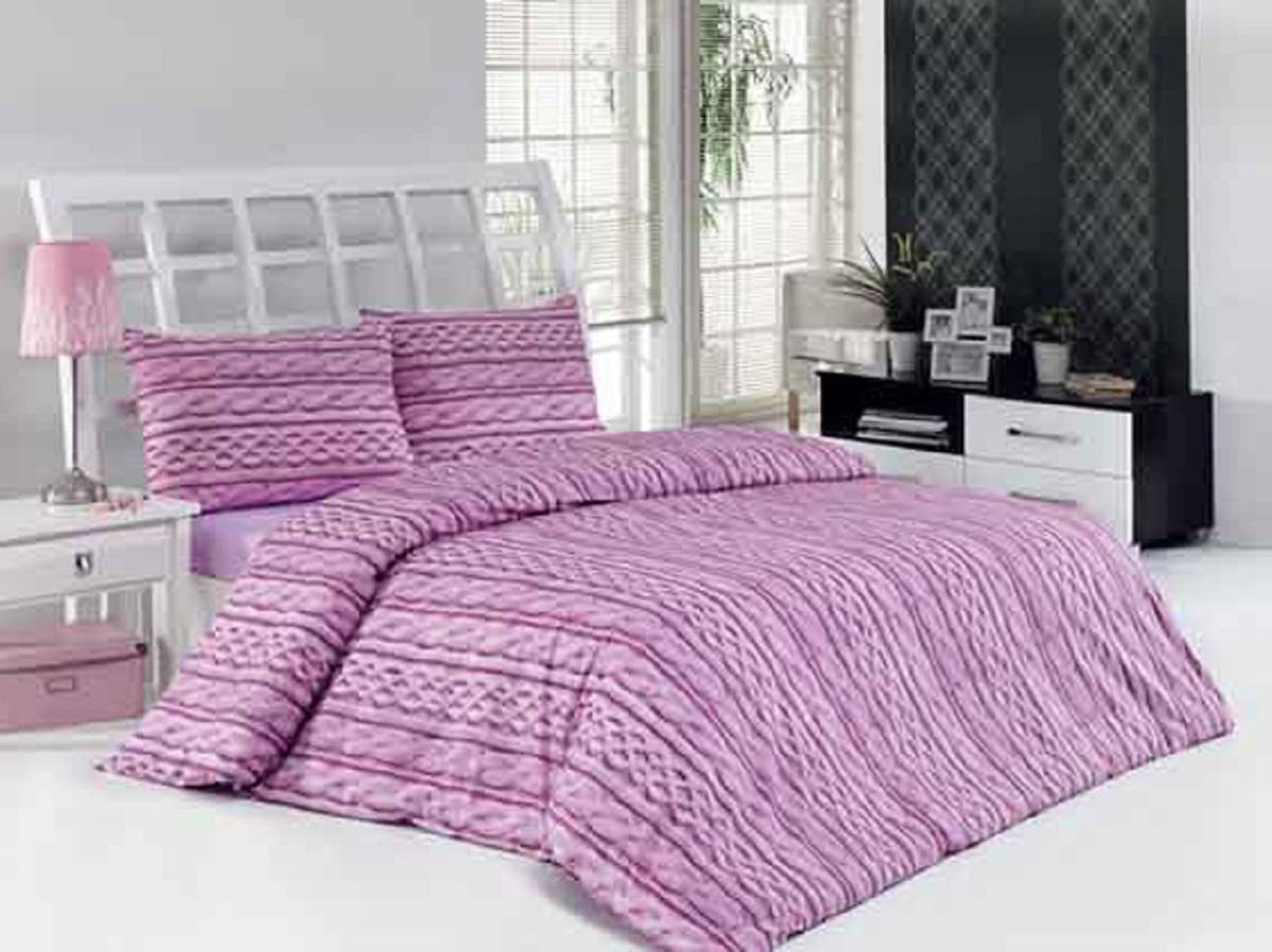 """Комплект белья Altinbasak """"Tweed"""", 2-спальный, наволочки 50х70, цвет: сиреневый"""