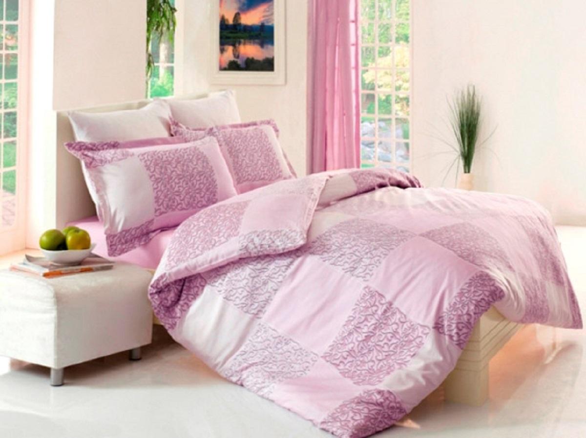 Комплект белья Altinbasak Moda, 2-спальный, наволочки 50х70, цвет: сиреневый255/2/18/CHAR002