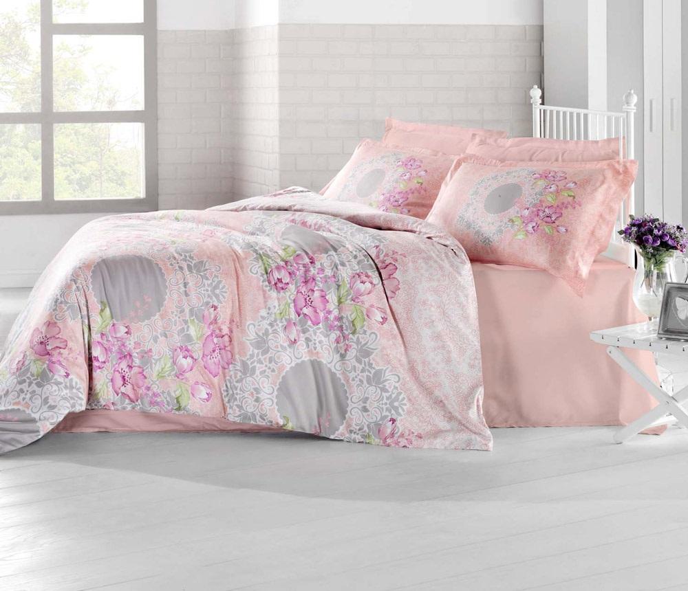 Комплект белья Altinbasak Elvin, 2-спальный, наволочки 50х70, цвет: коралловый256/20/CHAR002
