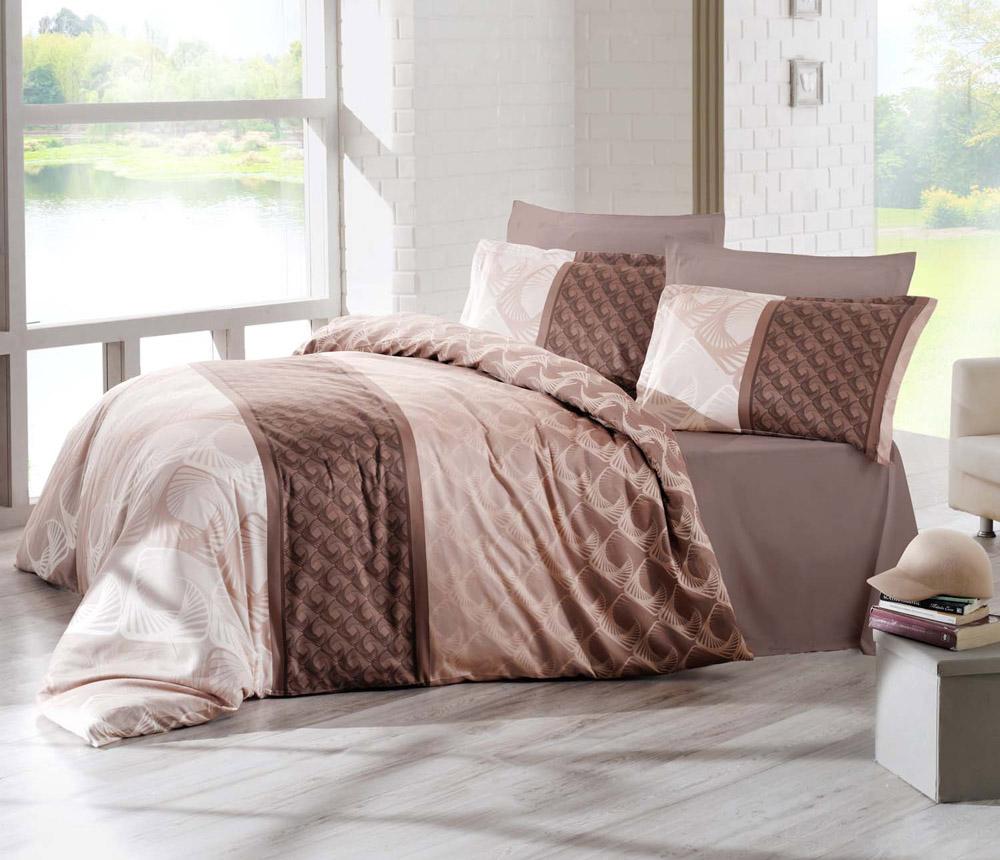 Комплект белья Altinbasak Festa, 2-спальный, наволочки 50х70, цвет: коричневый256/23/CHAR001