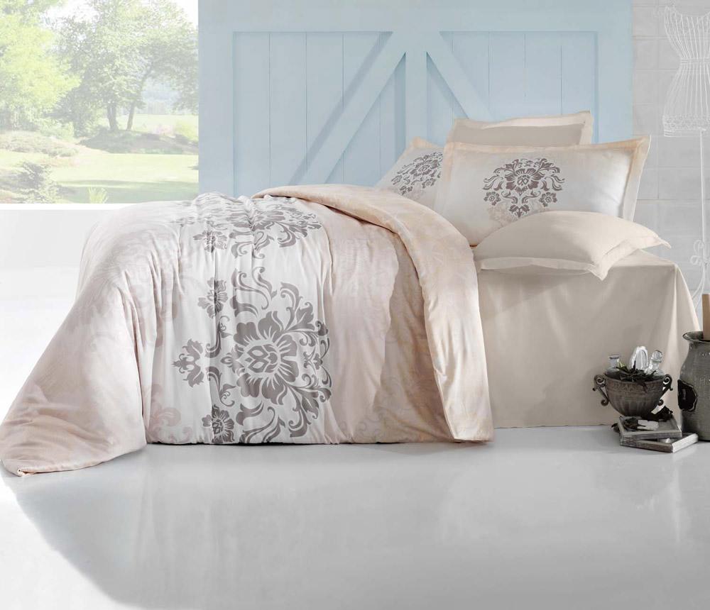 Комплект белья Altinbasak Ilma, 2-спальный, наволочки 50х70256/25/CHAR001Комплект постельного белья включает в себя шесть предметов: простыню, пододеяльник и четыре наволочки, выполненные из сатина.Белье из сатина долговечно и выдерживает большое число стирок.Размер простыни: 240 x 260 см.Размер наволочек: 50 x 70 см.