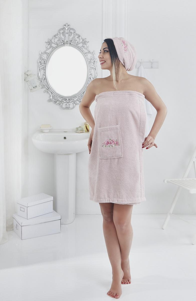 Набор для сауны женский Karna Pera, цвет: розовый, 2 предмета2607/CHAR004Махровый набор для сауны Pera изготавливают из высококачественного 100% хлопка.Хлопковые нити прядутся из длинных волокон. Длина волокон хлопковой нити влияет на свойстваткани, чем длиннее волокна, тем махровое изделие прочнее, пушистее и мягче на ощупь. А такжемахровое изделие будет отлично впитывать воду и быстро сохнуть. На впитывающие качествамахры (ее гигроскопичность) конечно же влияет состав волокон.Набор абсолютно не аллергенен, имеет высокую воздухопроницаемость и долгий срокиспользования. Состоит из полотенца-парео и полотенца -чалмы.