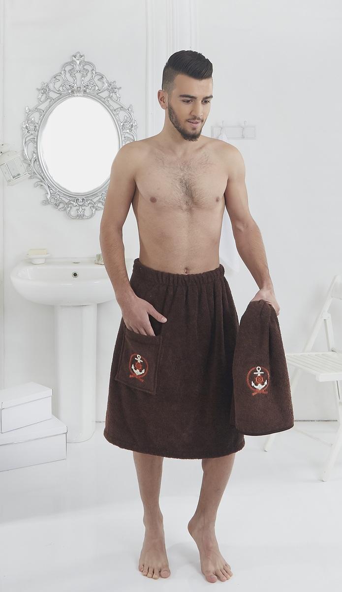 """Набор для сауны мужской Karna """"Pamir"""", цвет: коричневый, 2 предмета"""