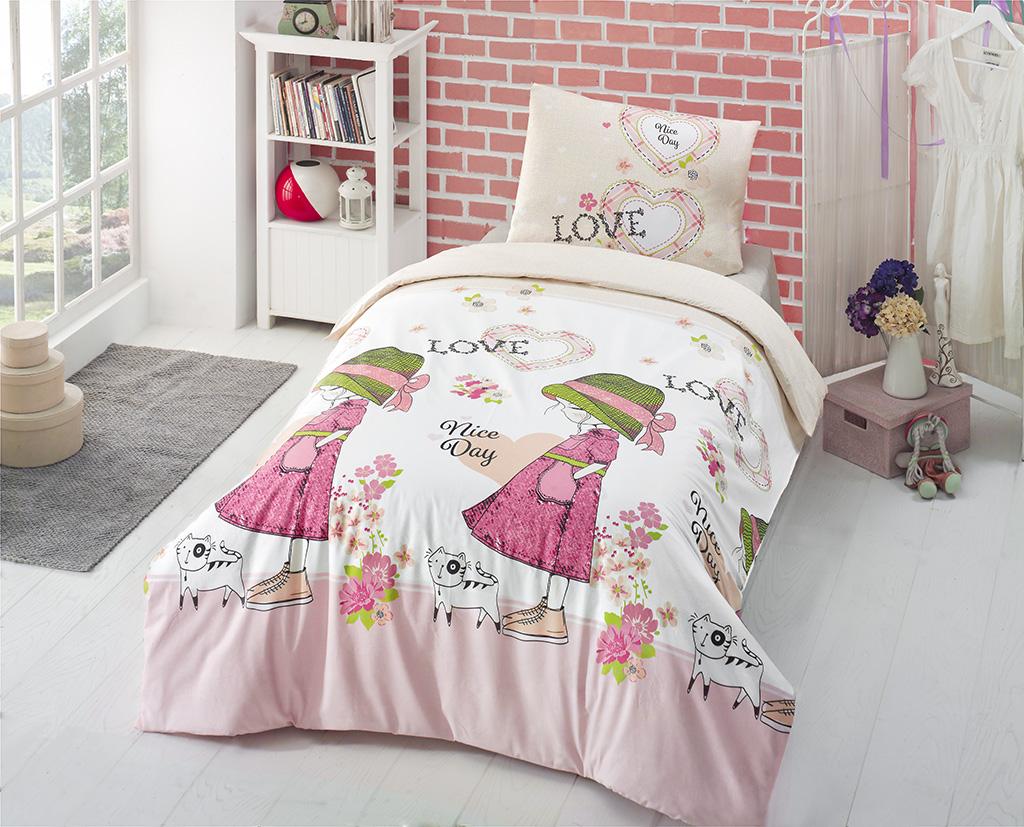 """Комплект белья Altinbasak """"Nice Day"""", 1,5-спальный, наволочки 50х70, цвет: розовый"""