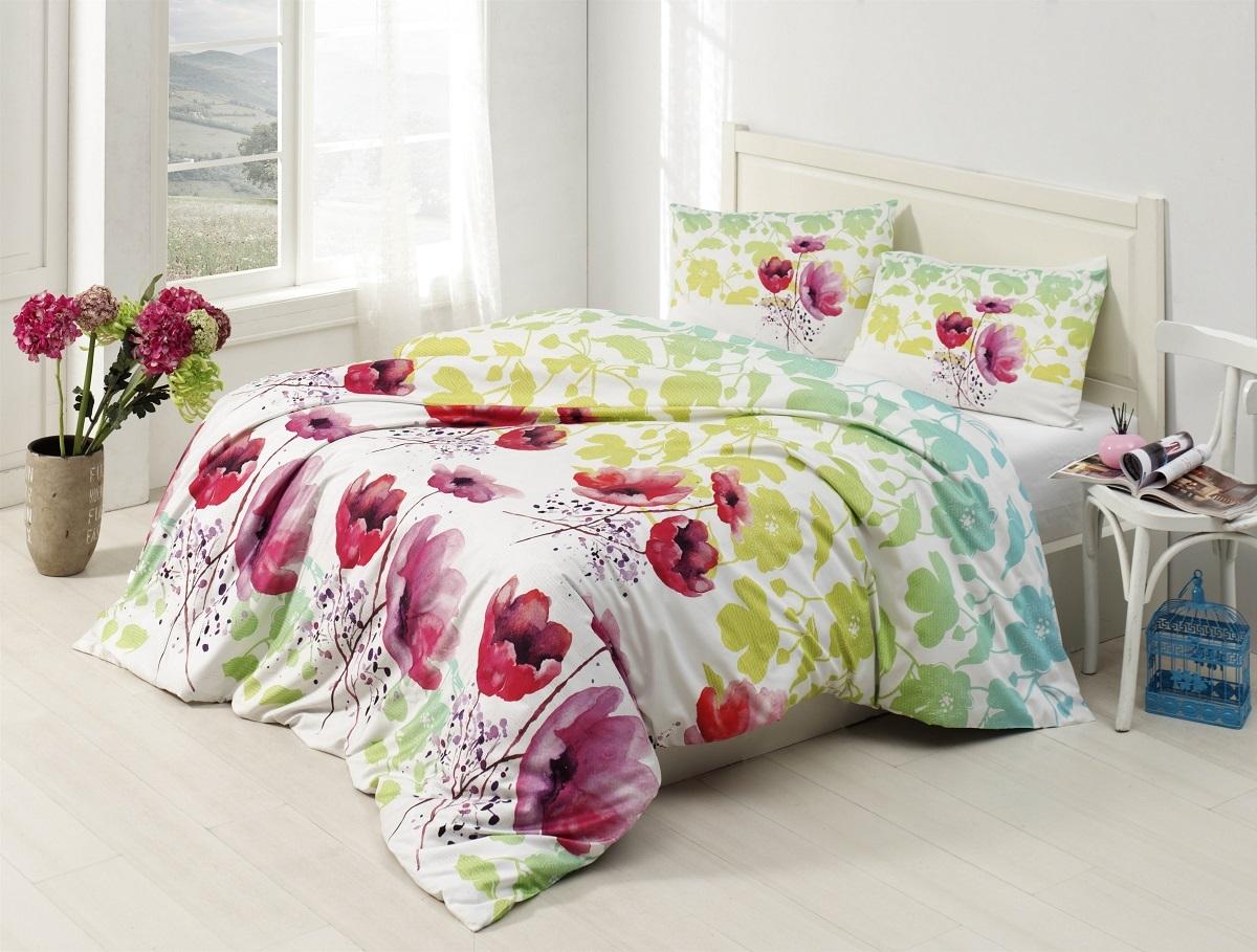 """Комплект белья Altinbasak """"Elfin"""", 2-спальный, наволочки 50х70, цвет: зеленый"""