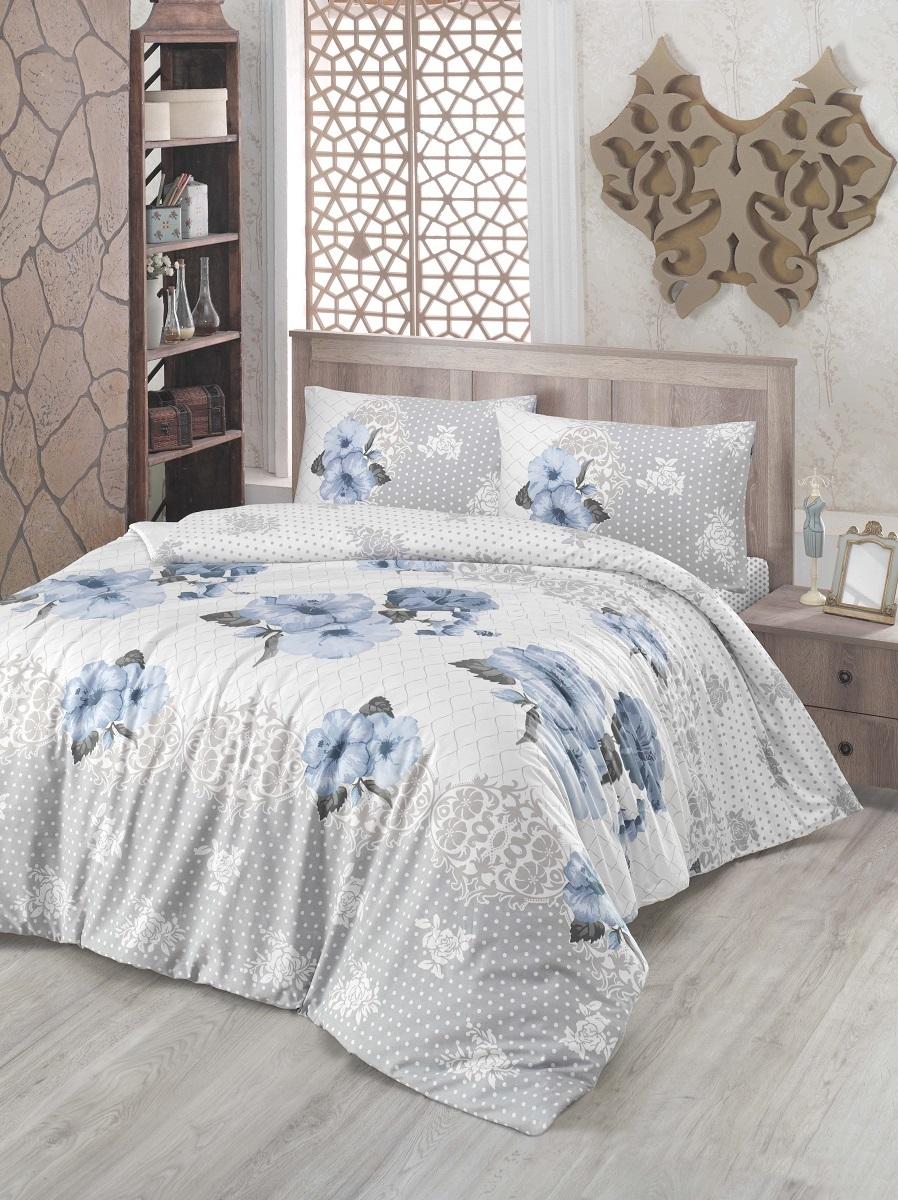Комплект белья Altinbasak Guldem, 2-спальный, наволочки 50х70, цвет: голубой297/17/CHAR001Комплект постельного белья включает в себя четыре предмета: простыню, пододеяльник, две наволочки, выполненные из ранфорса.Ранфорс - 100% хлопковое волокно, для которого характерна высокая плотность. Ткань отличается повышенной прочностью и износостойкостью, не теряет своего вида даже после частых стирок. Отлично подстраивается под температуру окружающей среды, даря зимой тепло, а летом - прохладу. Гипоаллергенен, хорошо пропускает воздух и впитывает влагу. Советы по выбору постельного белья от блогера Ирины Соковых. Статья OZON Гид