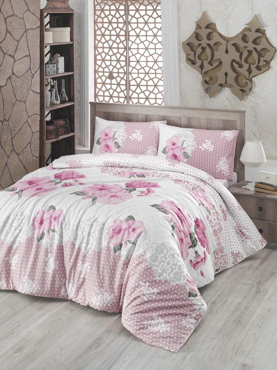 Комплект белья Altinbasak Guldem, 2-спальный, наволочки 50х70, цвет: розовый297/17/CHAR002Комплект постельного белья включает в себя четыре предмета: простыню, пододеяльник, две наволочки, выполненные из ранфорса.Ранфорс - 100% хлопковое волокно, для которого характерна высокая плотность. Ткань отличается повышенной прочностью и износостойкостью, не теряет своего вида даже после частых стирок. Отлично подстраивается под температуру окружающей среды, даря зимой тепло, а летом - прохладу. Гипоаллергенен, хорошо пропускает воздух и впитывает влагу. Советы по выбору постельного белья от блогера Ирины Соковых. Статья OZON Гид