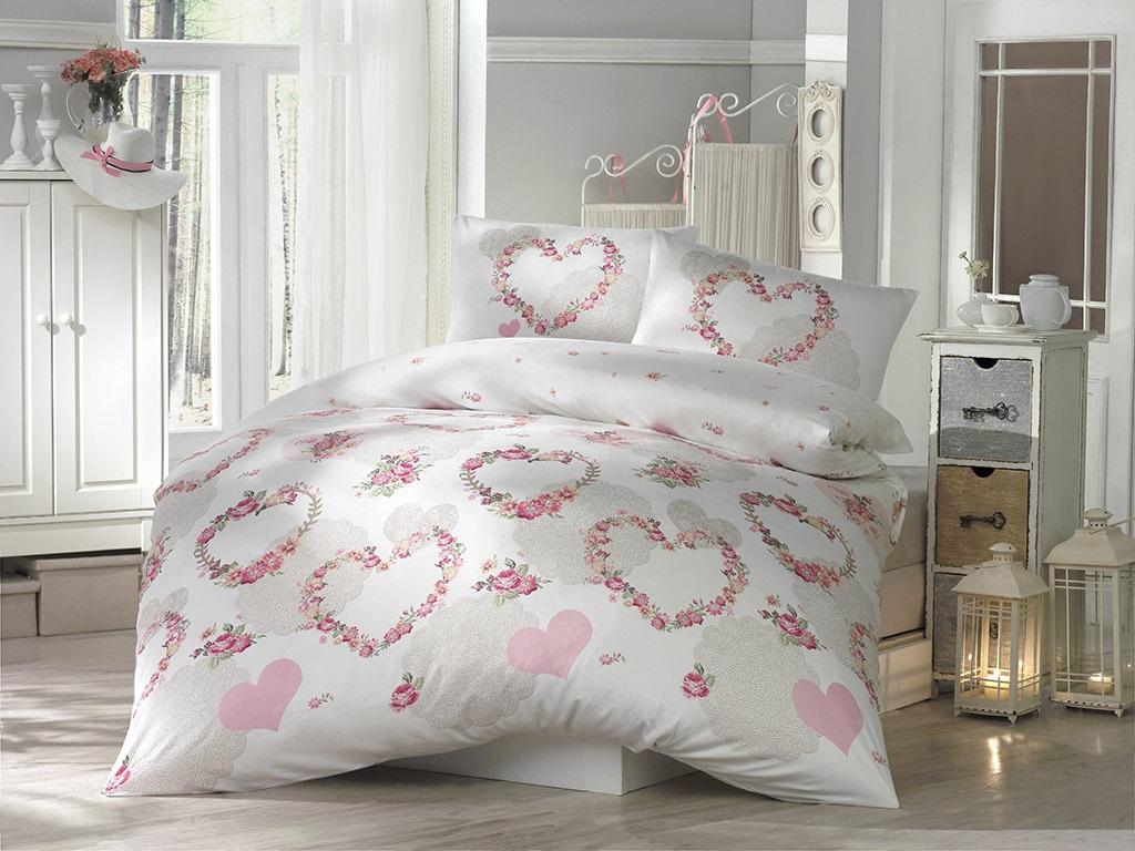 """Комплект белья Altinbasak """"Huma"""", 2-спальный, наволочки 50х70, цвет: розовый"""
