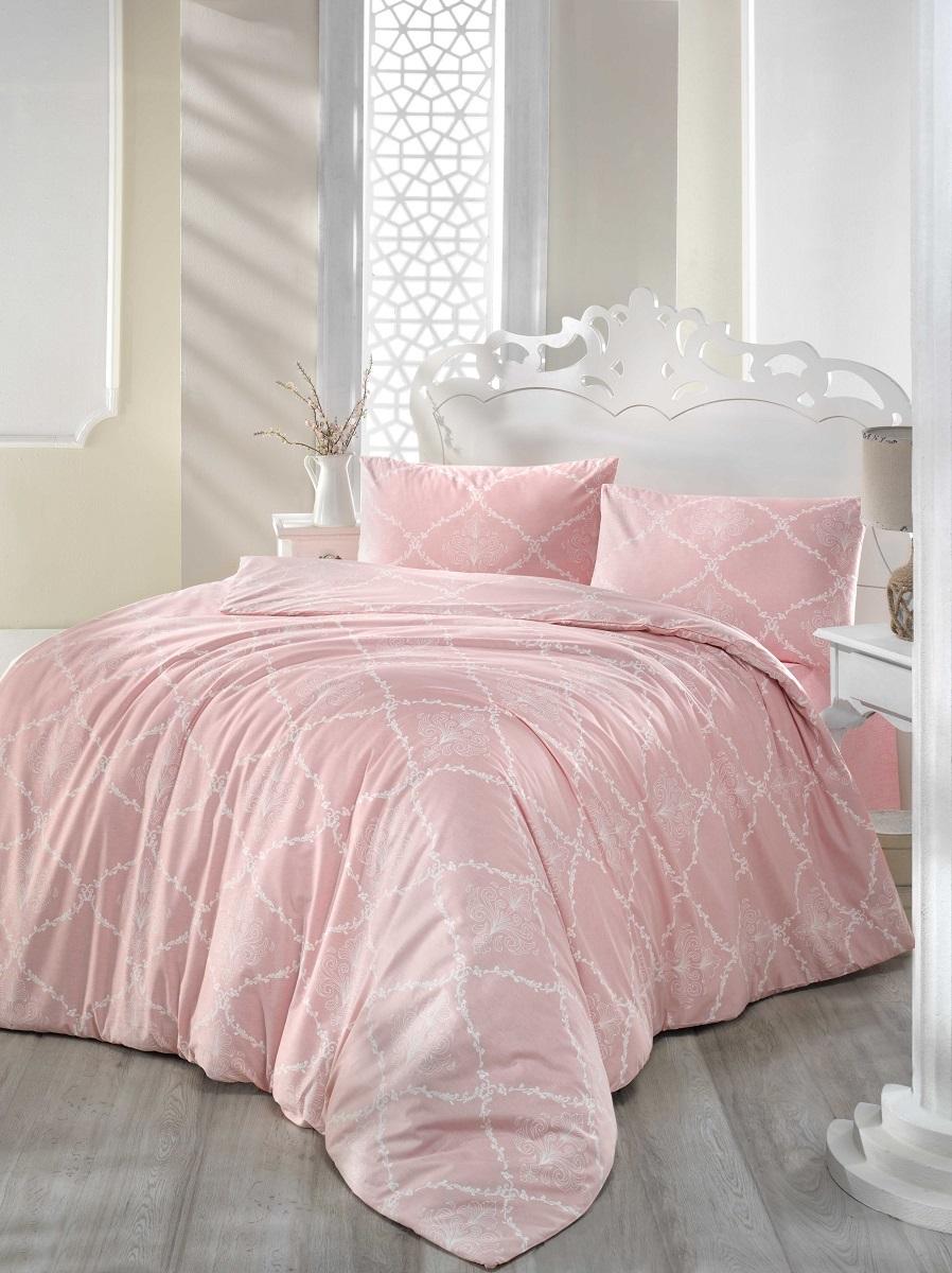Комплект белья Altinbasak Lamina, 2-спальный, наволочки 50х70, цвет: розовый297/22/CHAR003Комплект постельного белья включает в себя четыре предмета: простыню, пододеяльник и две наволочки, выполненные из ранфорса.Ранфорс - 100% хлопковое волокно, для которого характерна высокая плотность. Ткань отличается повышенной прочностью и износостойкостью, не теряет своего вида даже после частых стирок. Отлично подстраивается под температуру окружающей среды, даря зимой тепло, а летом - прохладу. Гипоаллергенен, хорошо пропускает воздух и впитывает влагу. Советы по выбору постельного белья от блогера Ирины Соковых. Статья OZON Гид