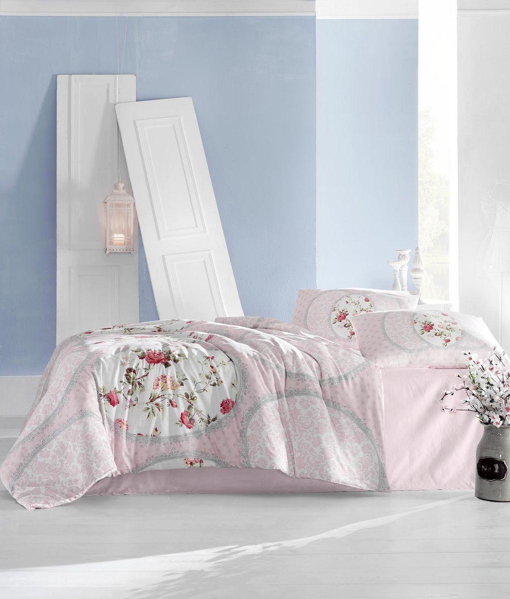 Комплект белья Altinbasak Perlita, 2-спальный, наволочки 50х70, цвет: розовый297/31/CHAR001Комплект постельного белья Altinbasak включает простыню, пододеяльник и 2 наволочки. Изделия выполнены из ранфорса.Ранфорс - 100% хлопковое волокно, для которого характерна высокая плотность. Ткань отличается повышенной прочностью и износостойкостью, не теряет своего вида даже после частых стирок. Отлично подстраивается под температуру окружающей среды, даря зимой тепло, а летом - прохладу. Гипоаллергенен, хорошо пропускает воздух и впитывает влагу.