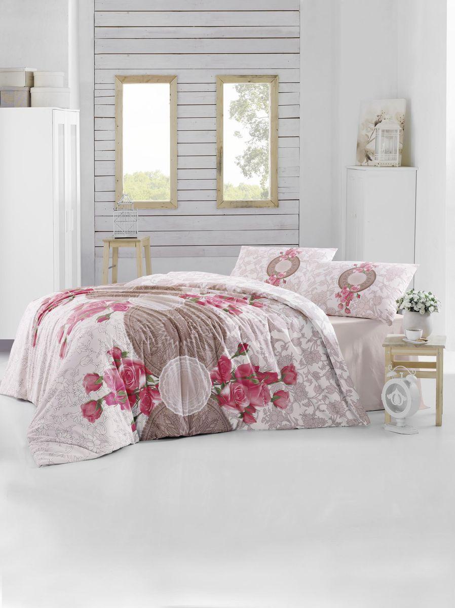 Комплект белья Altinbasak Rosen, 2-спальный, наволочки 50х70, цвет: коричневый297/33/CHAR001