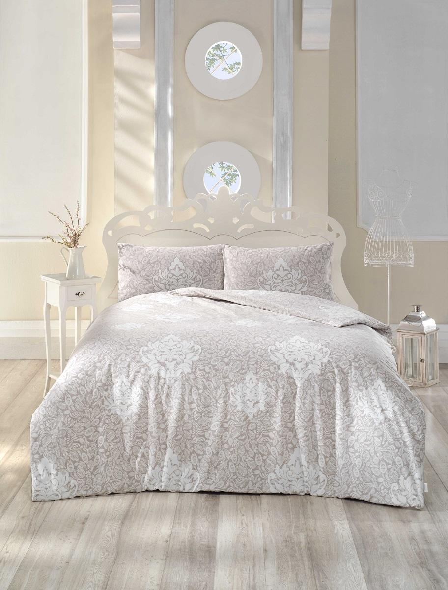 """Комплект белья Altinbasak """"Snazzy"""", 2-спальный, наволочки 50х70, цвет: коричневый"""