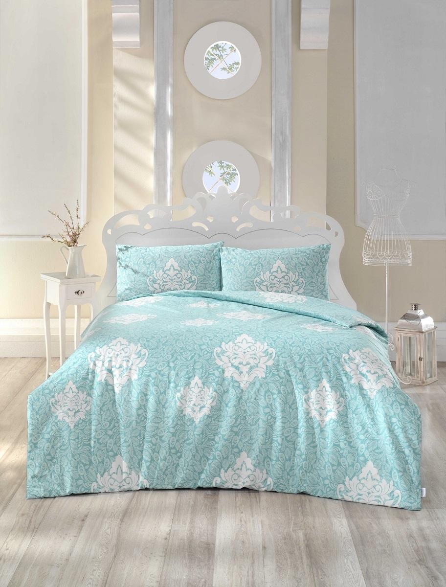 """Комплект белья Altinbasak """"Snazzy"""", 2-спальный, наволочки 50х70, цвет: ментол"""