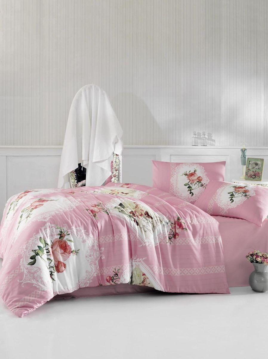 Комплект белья Altinbasak Ulya, 2-спальный, наволочки 50х70, цвет: розовый297/37/CHAR001