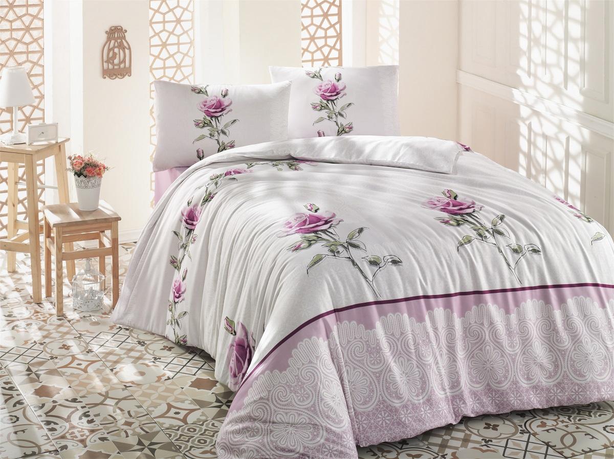 Комплект белья Altinbasak Almila, 2-спальный, наволочки 50х70, цвет: розовый297/4/CHAR002Комплект постельного белья включает в себя четыре предмета: простыню, пододеяльник, две наволочки, выполненные из ранфорса.Ранфорс - 100% хлопковое волокно, для которого характерна высокая плотность. Ткань отличается повышенной прочностью и износостойкостью, не теряет своего вида даже после частых стирок. Отлично подстраивается под температуру окружающей среды, даря зимой тепло, а летом - прохладу. Гипоаллергенен, хорошо пропускает воздух и впитывает влагу. Советы по выбору постельного белья от блогера Ирины Соковых. Статья OZON Гид