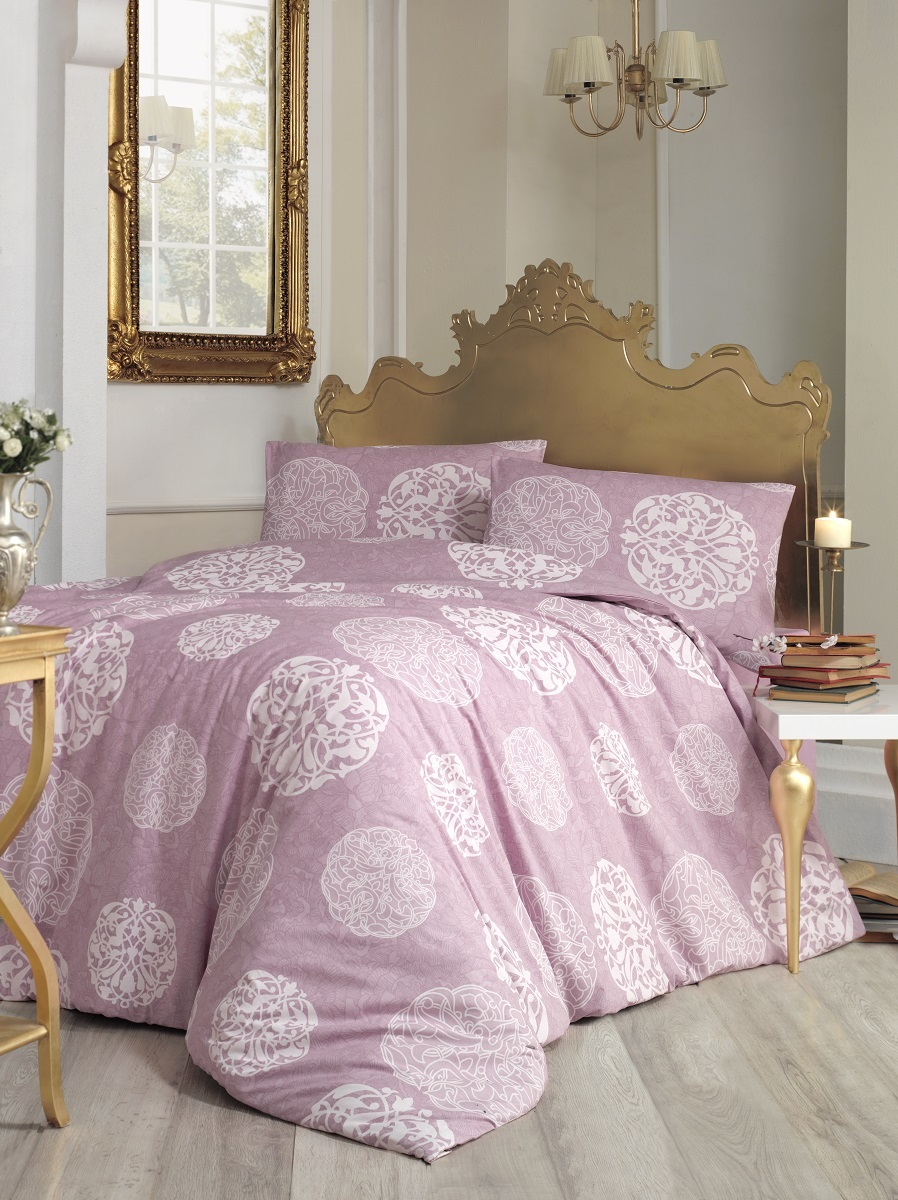 Комплект белья Altinbasak Bello, 2-спальный, наволочки 50х70, цвет: розовый297/9/CHAR001Комплект постельного белья включает в себя четыре предмета: простыню, пододеяльник, две наволочки, выполненные из ранфорса.Ранфорс - 100% хлопковое волокно, для которого характерна высокая плотность. Ткань отличается повышенной прочностью и износостойкостью, не теряет своего вида даже после частых стирок. Отлично подстраивается под температуру окружающей среды, даря зимой тепло, а летом - прохладу. Гипоаллергенен, хорошо пропускает воздух и впитывает влагу. Советы по выбору постельного белья от блогера Ирины Соковых. Статья OZON Гид