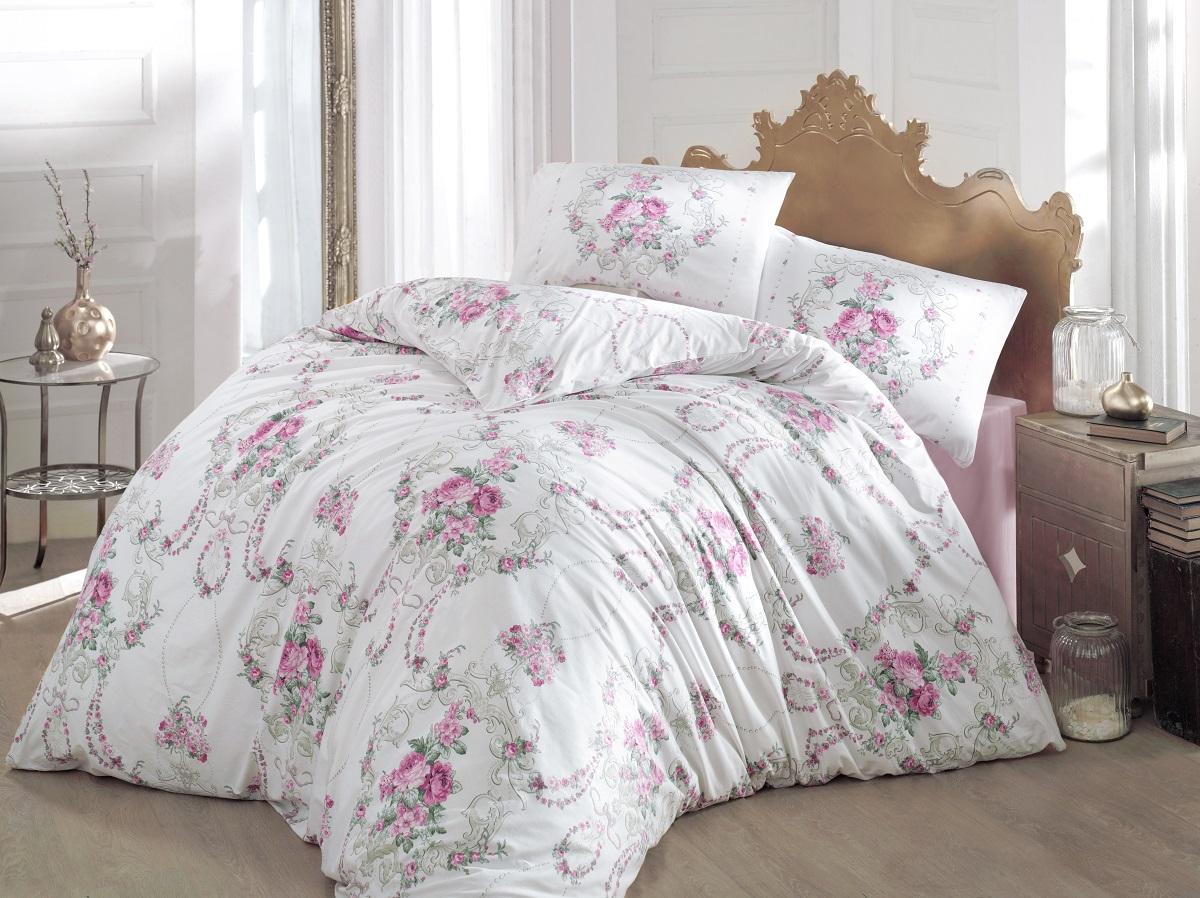 Комплект белья Altinbasak Admire, 2-спальный, наволочки 50х70, цвет: розовый297/CHAR003Комплект постельного белья включает в себя четыре предмета: простыню, пододеяльник, две наволочки, выполненные из ранфорса.Ранфорс - 100% хлопковое волокно, для которого характерна высокая плотность. Ткань отличается повышенной прочностью и износостойкостью, не теряет своего вида даже после частых стирок. Отлично подстраивается под температуру окружающей среды, даря зимой тепло, а летом - прохладу. Гипоаллергенен, хорошо пропускает воздух и впитывает влагу. Советы по выбору постельного белья от блогера Ирины Соковых. Статья OZON Гид