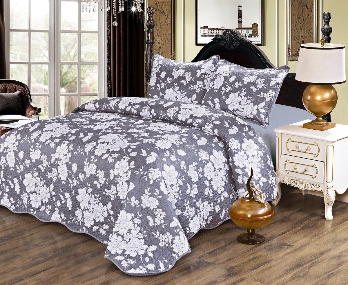 Комплект для спальни Karna Gretal: покрывало 230 х 250 см, 2 наволочки 50 х 70 см, цвет: esen покрывало karna покрывало evony цвет пудра 240х260 см