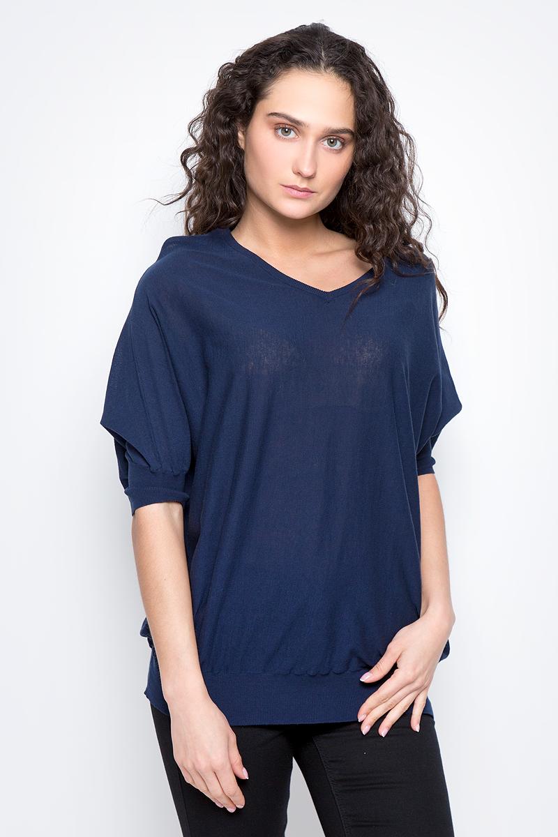 Джемпер женский Baon, цвет: темно-синий. B137036. Размер XL (50) baon футболка с рукавом летучая мышь и принтом арт baon b236081 синий