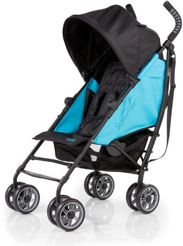 Summer Infant Коляска прогулочная 3D Flip цвет черный голубой - Коляски и аксессуары